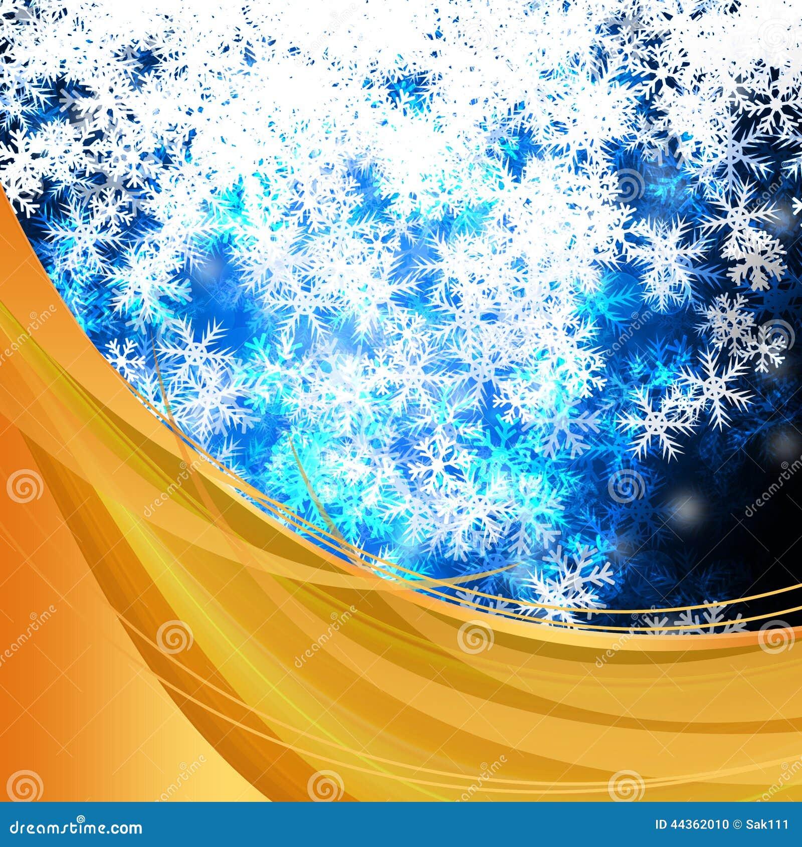 Elegante variopinto delle precipitazioni nevose deliziose di inverno su fondo astratto