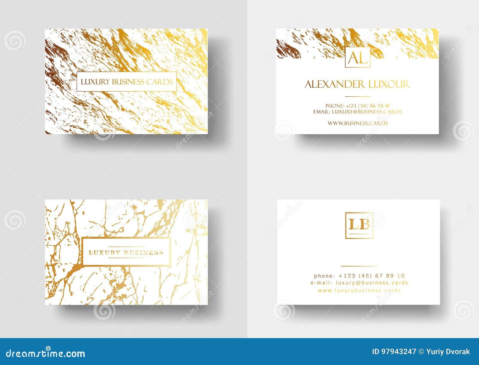 Elegante Visitenkarten Mit Marmorbeschaffenheit Und
