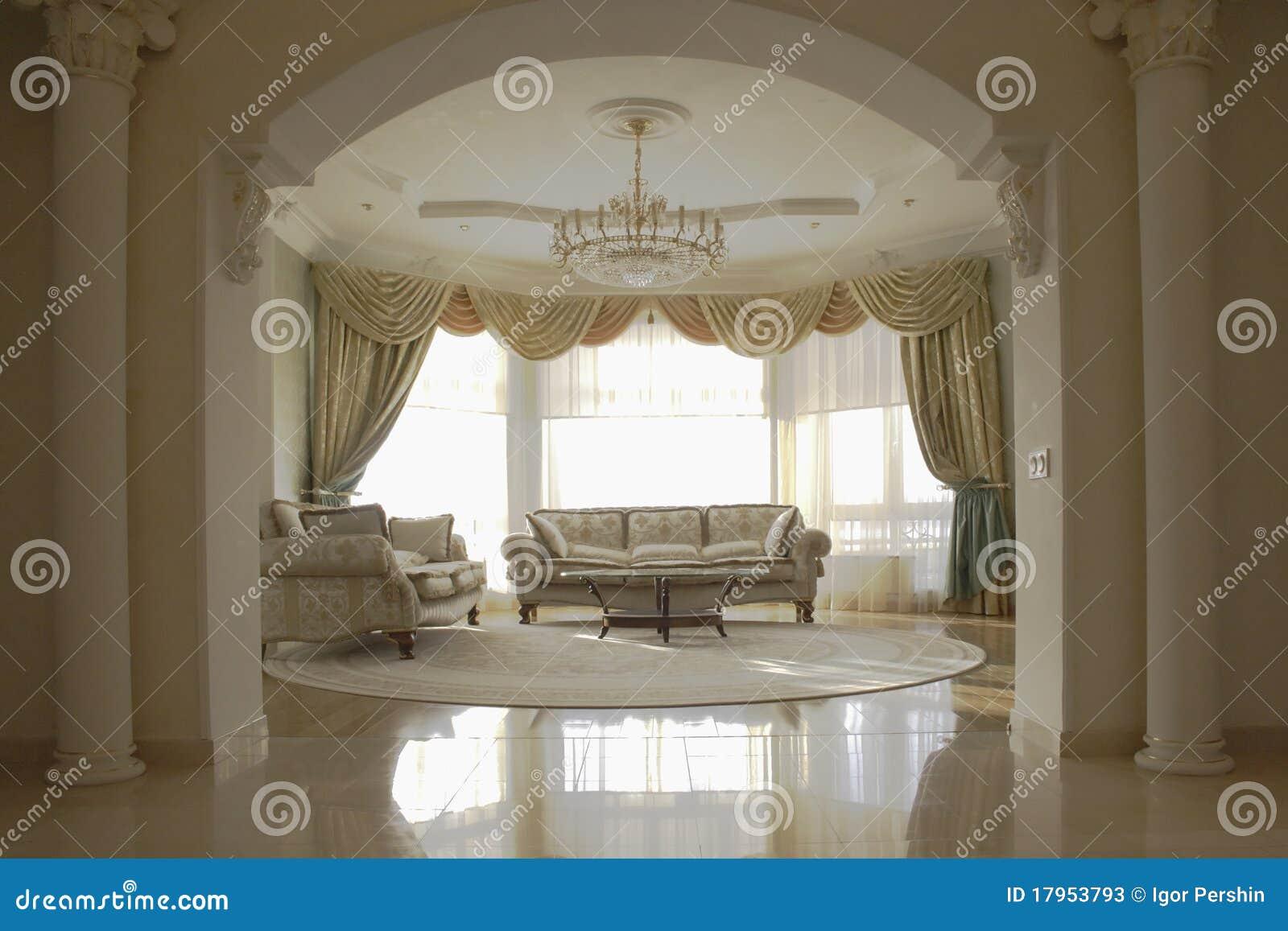 Elegante woonkamer stock foto 39 s afbeelding 17953793 - Gordijnen marokkaanse lounges fotos ...