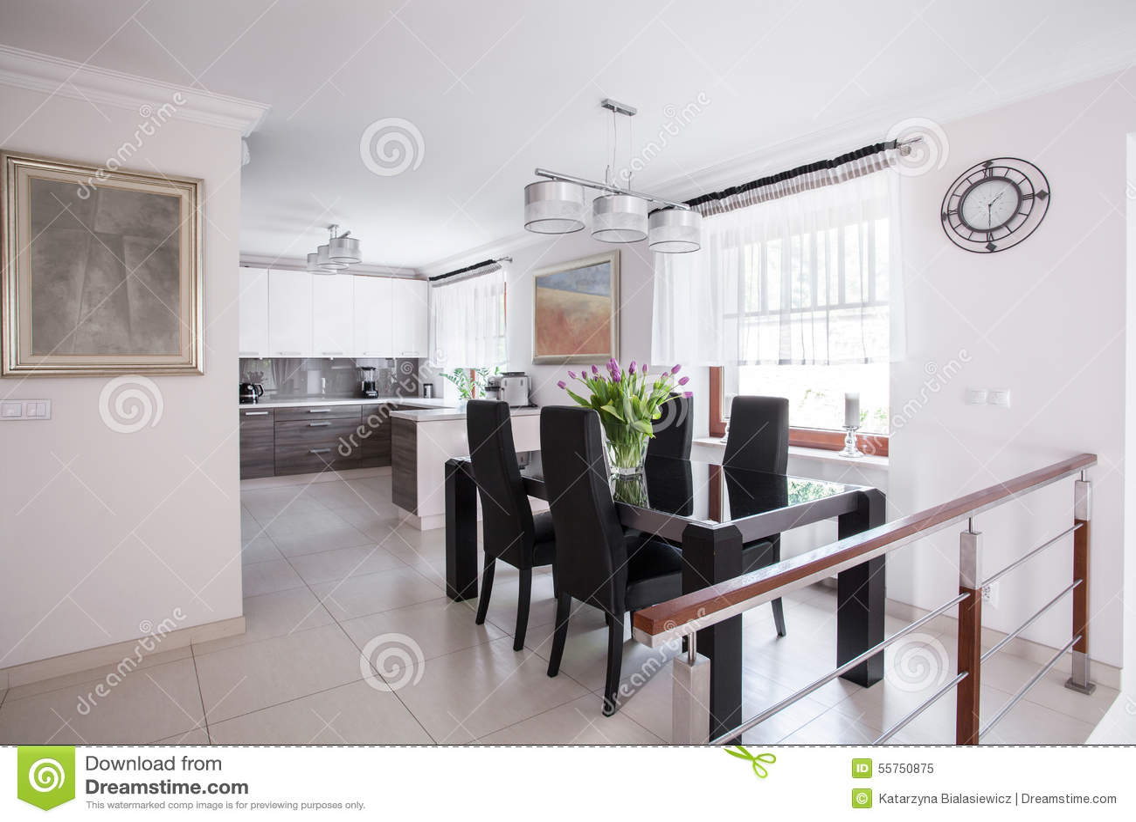 Elegantes Esszimmer Stockbild Bild Von Esszimmer Elegantes 55750875