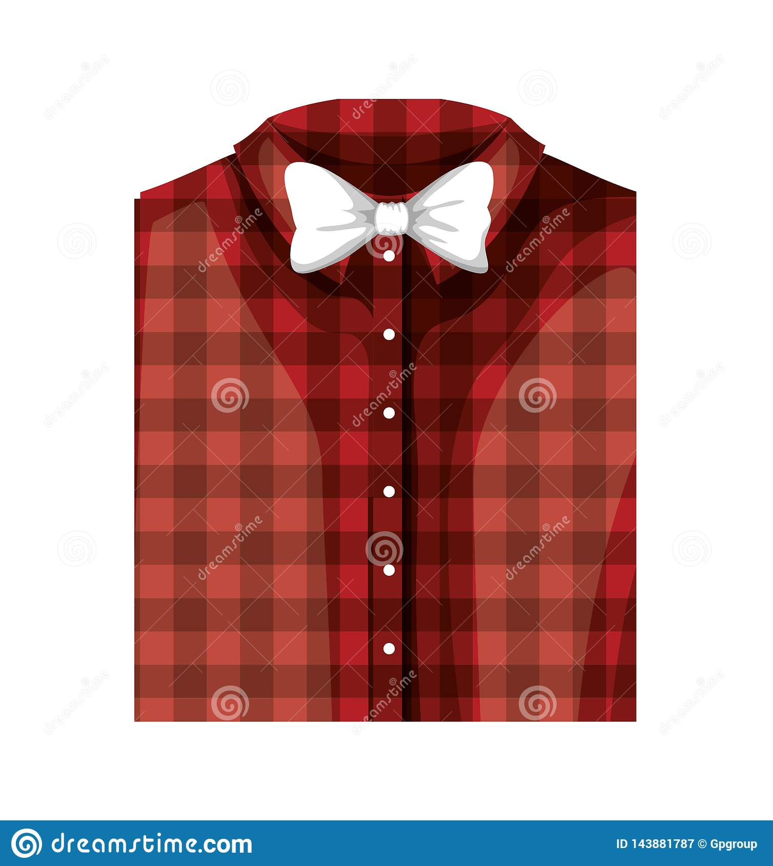Elegantes Hemd gefaltet mit bowtie