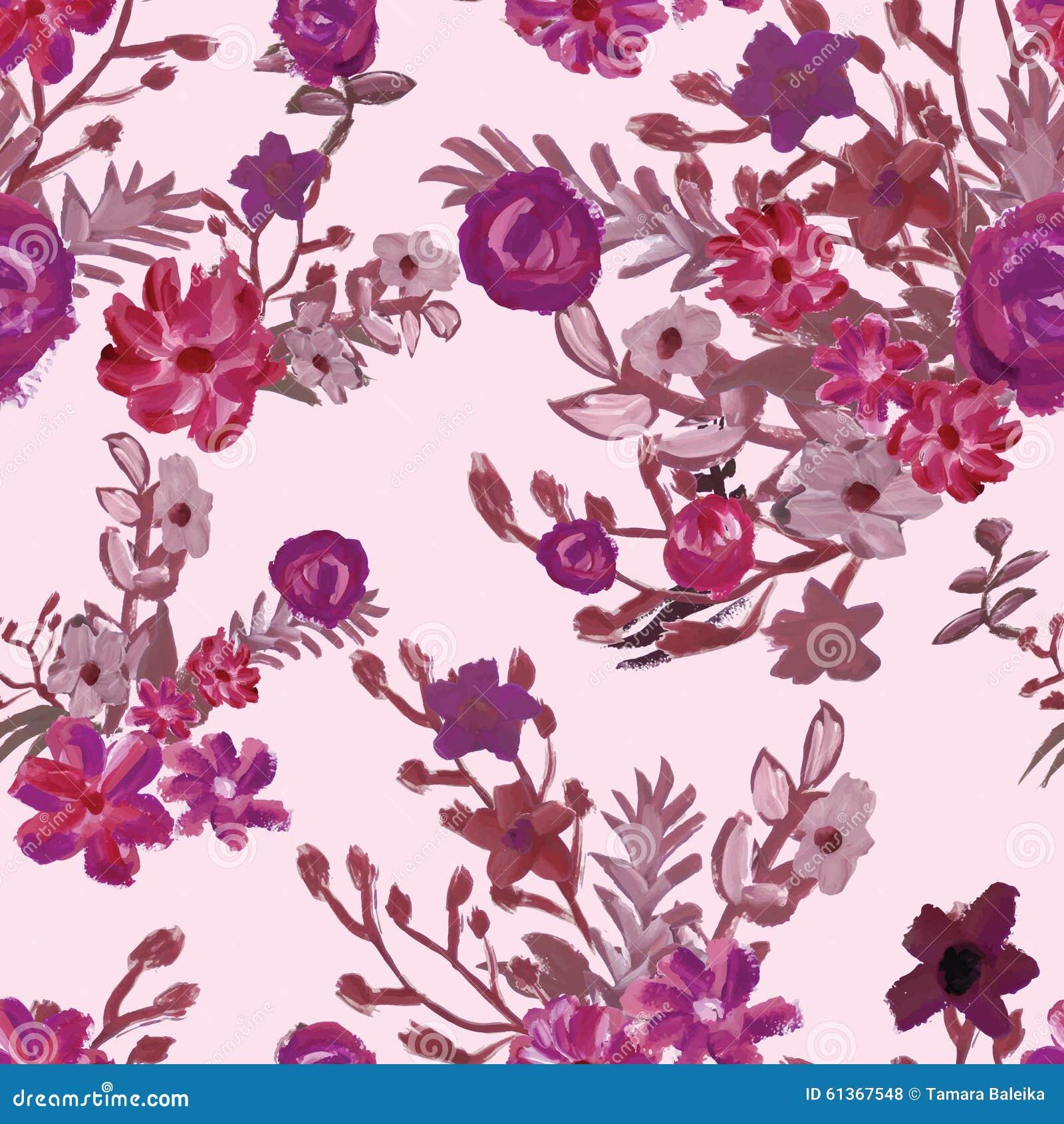 Rote Tapete Mit Blumenmuster : Elegant Seamless Pattern