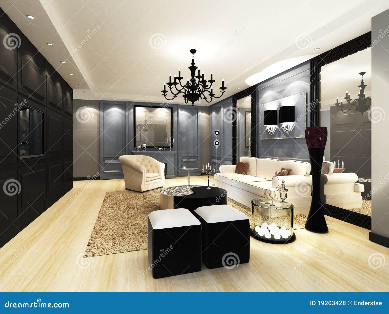 elegantes wohnzimmer lizenzfreie stockfotos - bild: 19203428, Wohnzimmer dekoo
