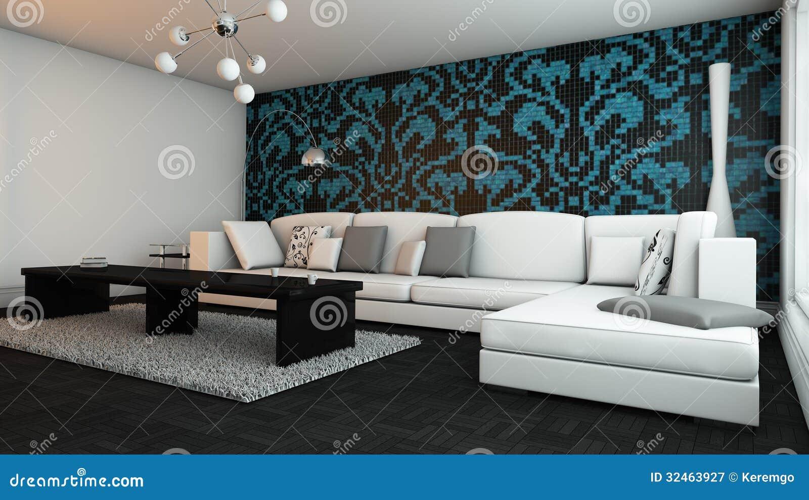 elegantes wohnzimmer lizenzfreie stockfotografie - bild: 32463927, Wohnzimmer dekoo
