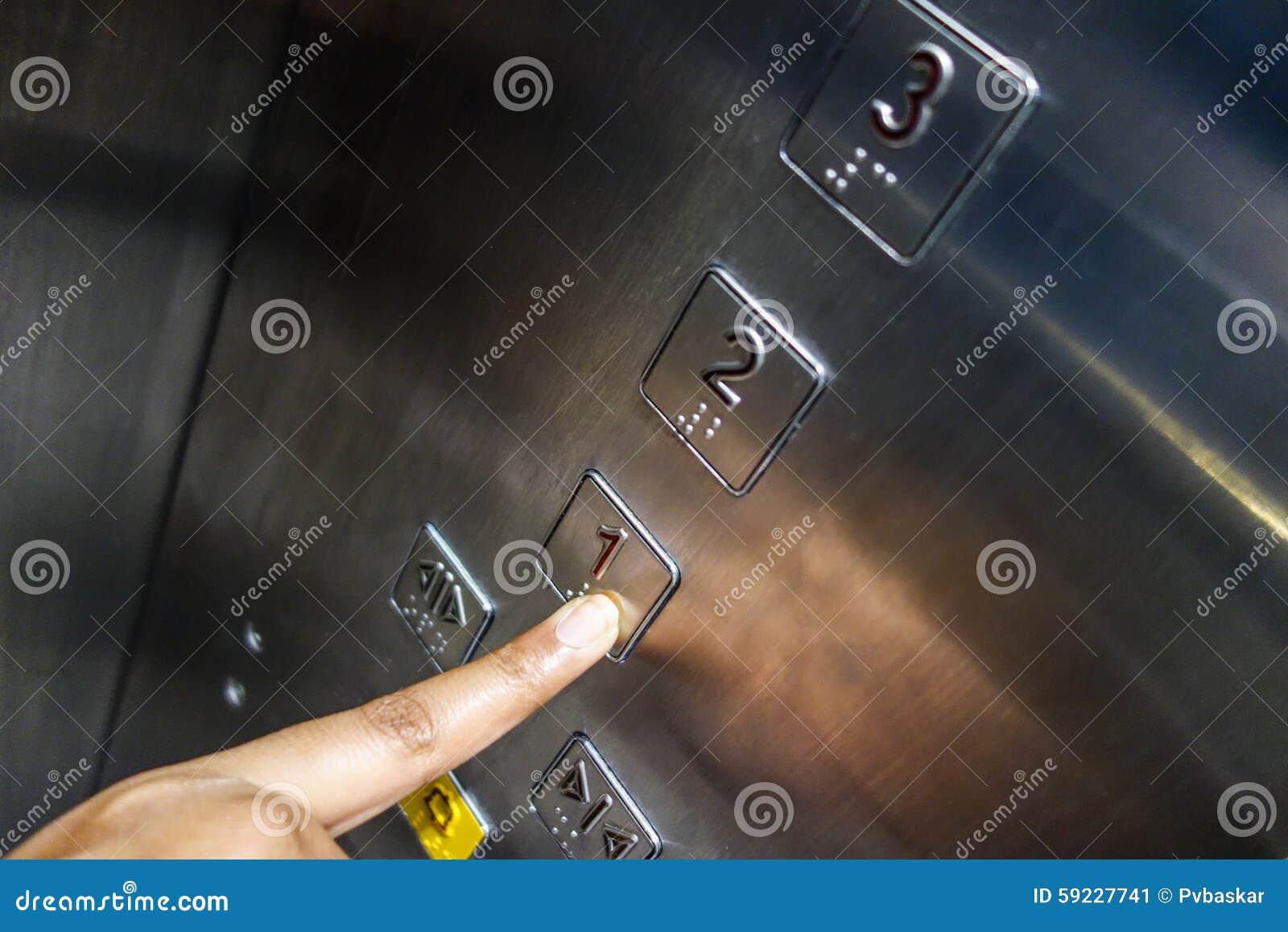 Elegir números de telclado numérico del elevador