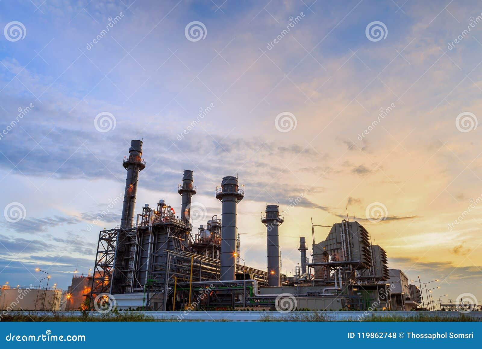 Elektricitet för kraftverk för kombinerad cirkulering för naturgas som frambringar stationen