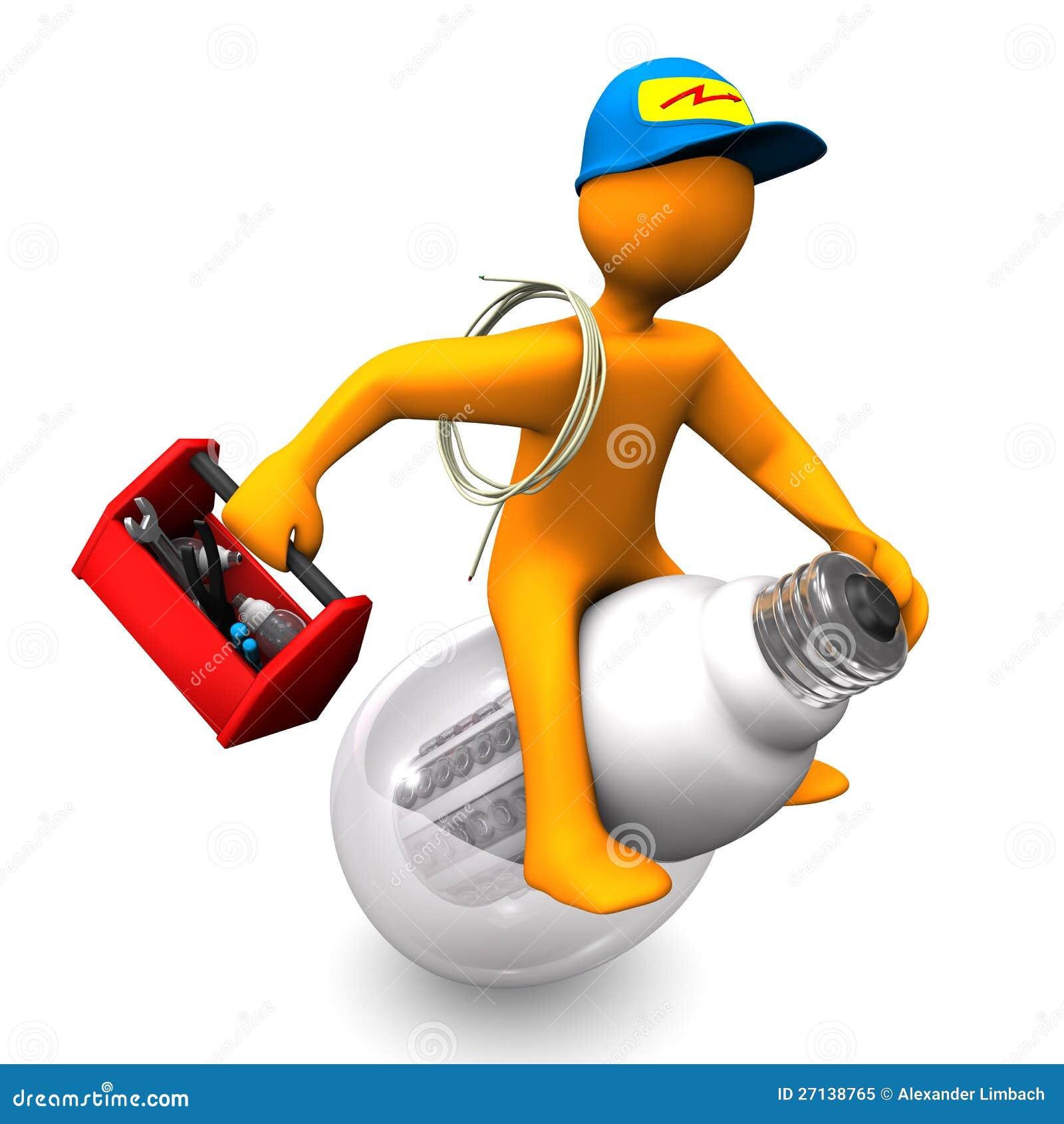 Elektriker-Fahrten stock abbildung. Illustration von hilfe - 27138765