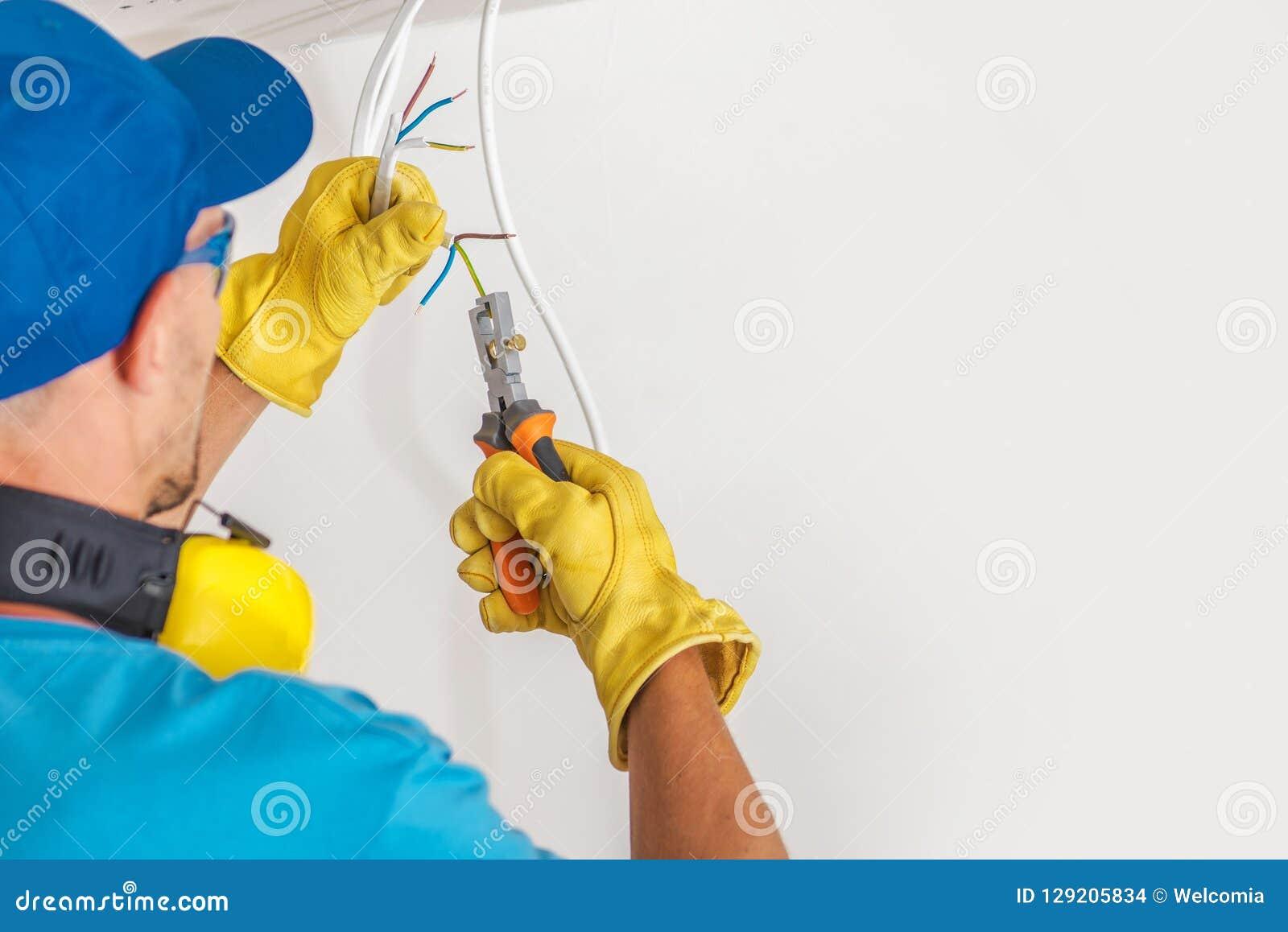 Elektriker och hans jobb