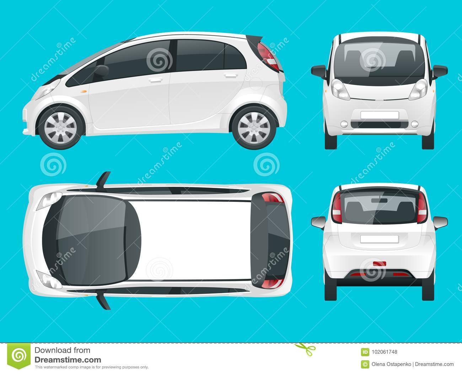 Elektrisch Voertuig Of Hybride Auto Milieuvriendelijke Hi Tech Auto