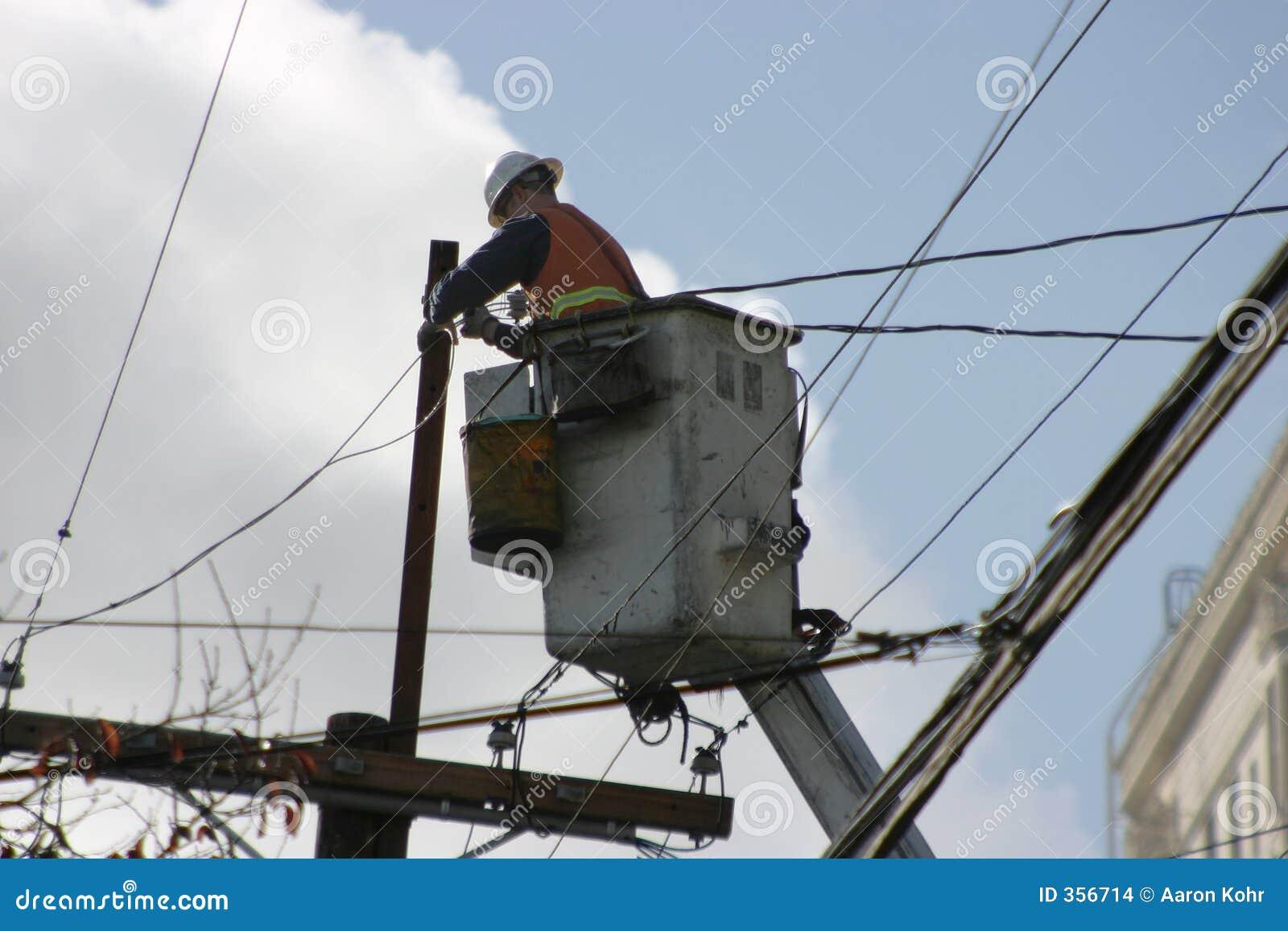 Elektrische Arbeitskraft auf einem Aufzug