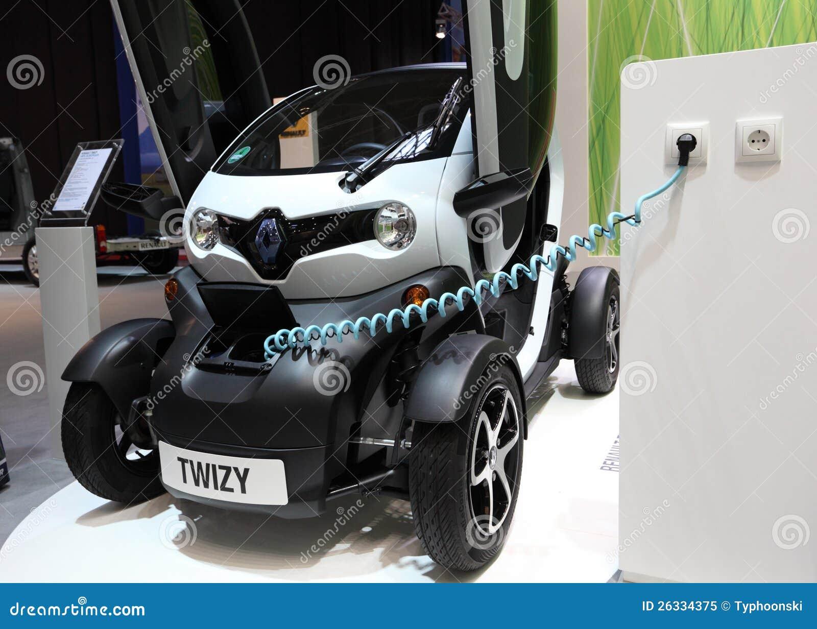 Elektrische Auto Renault Twizy Redactionele Afbeelding Afbeelding