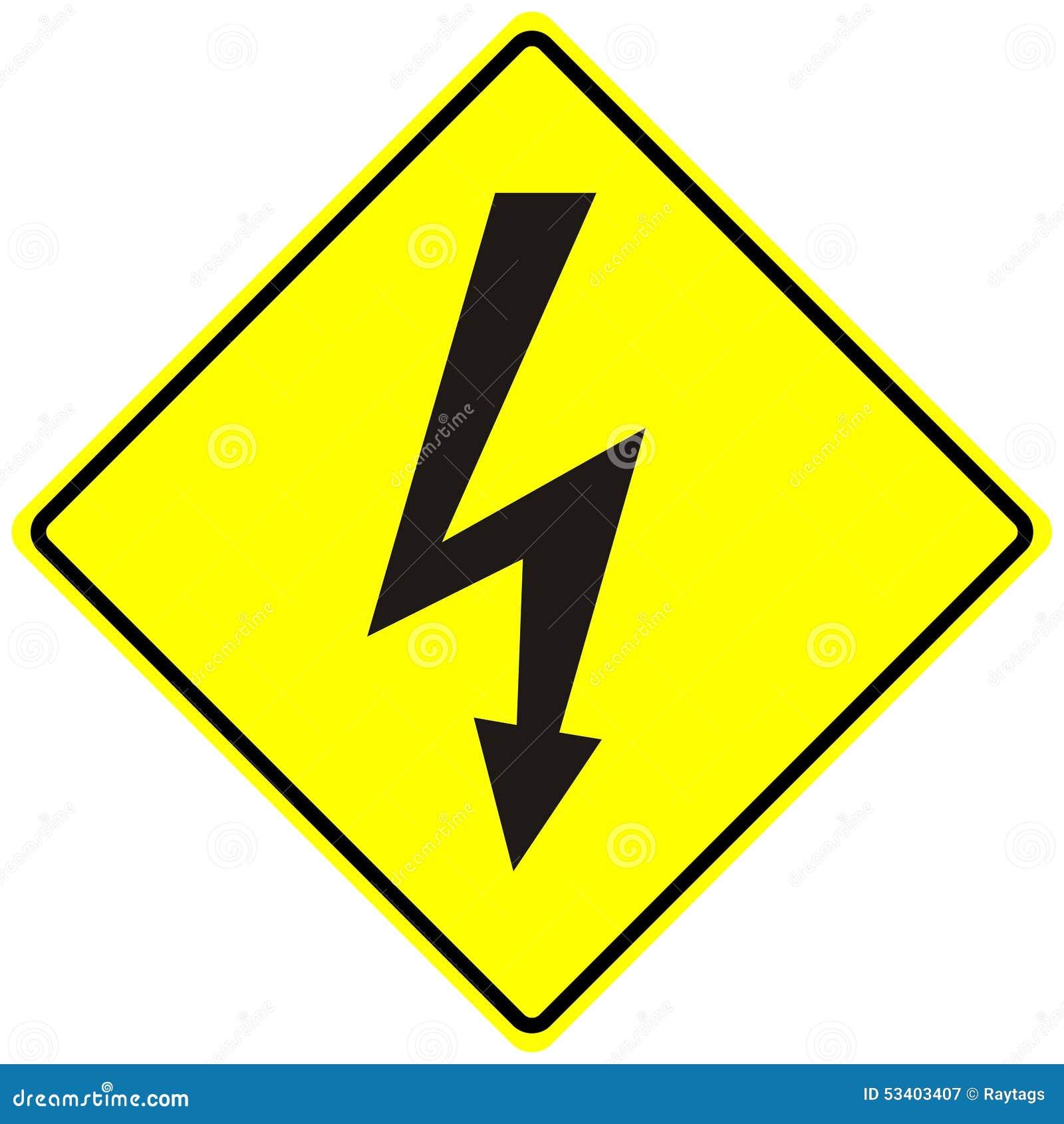 Elektrische Gefahr Hochspannungszeichen Getrenntes Makro