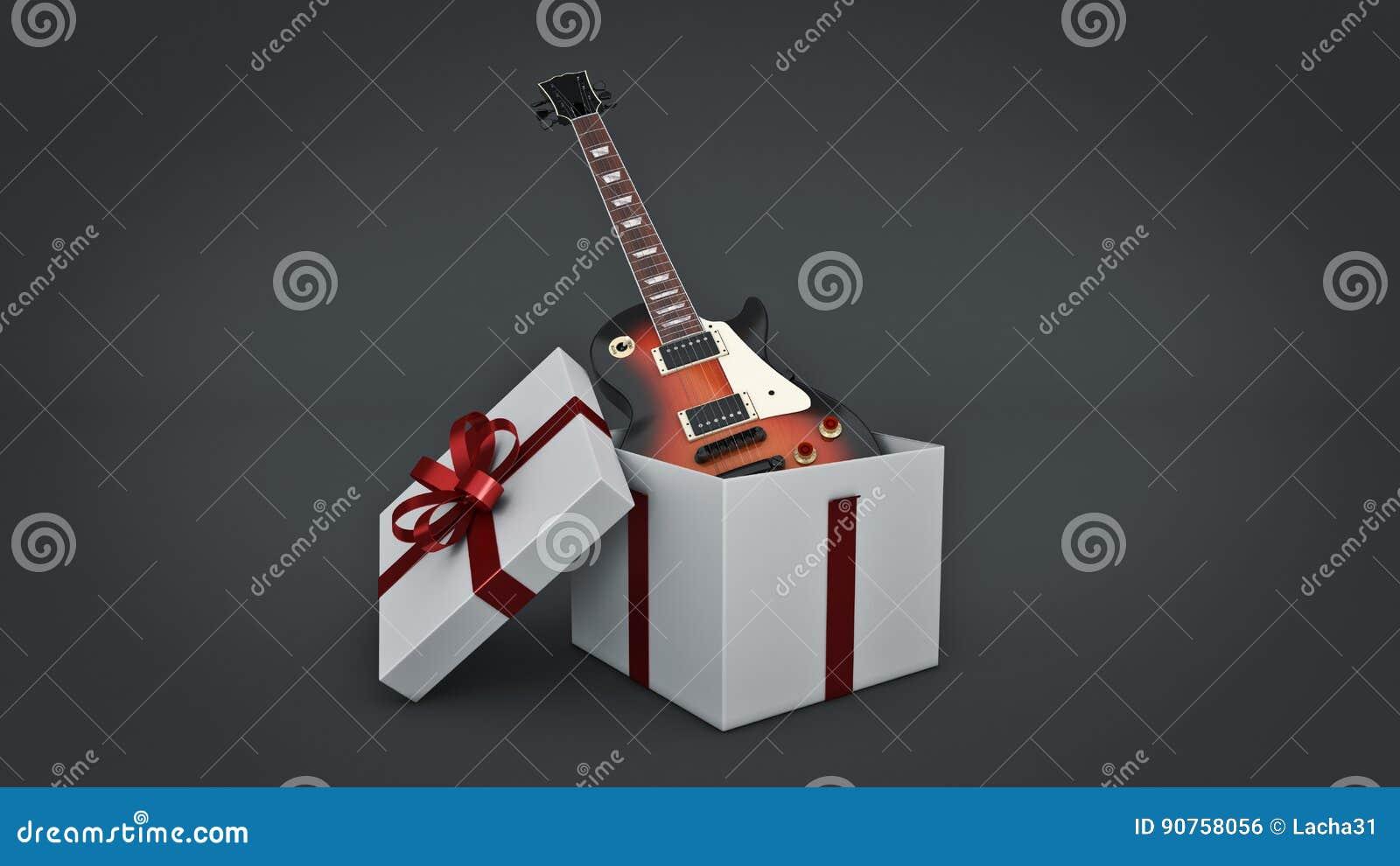 Elektrische Gitarre Geschenkboxkonzept