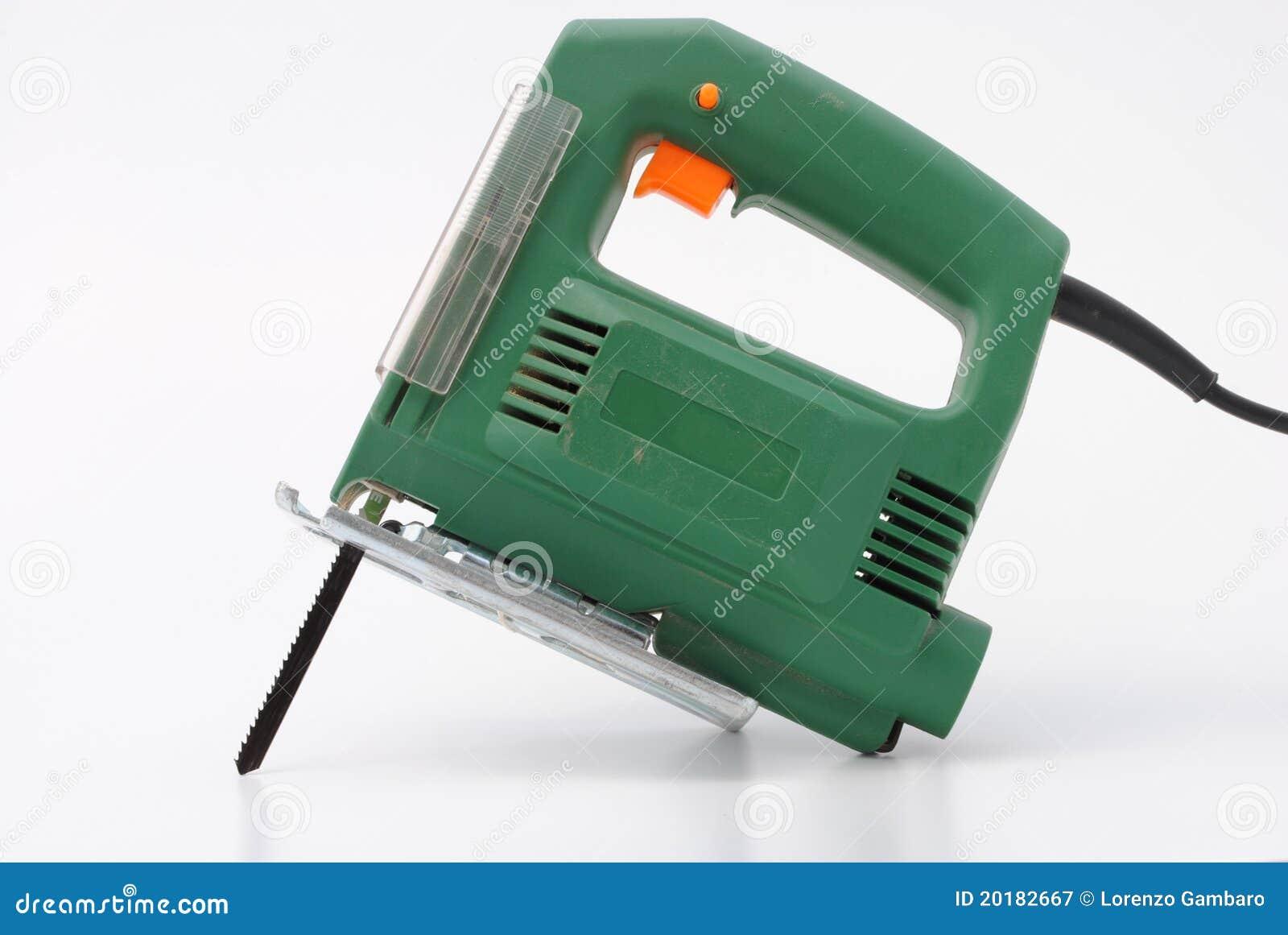 Cool Elektrische Grüne Metallsäge Lizenzfreie Stockfotografie - Bild  UJ07