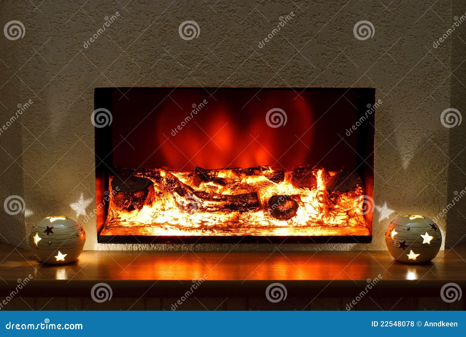 Elektrische open haard royalty vrije stock foto's   afbeelding ...
