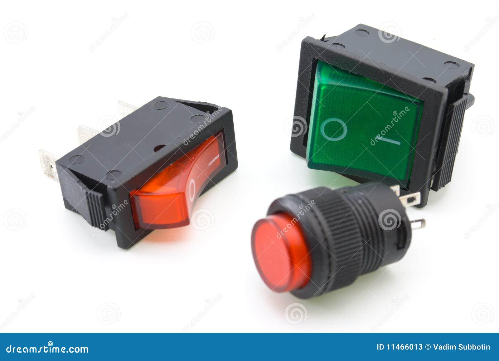 Elektrische Schalter stockbild. Bild von ausrüstung, belichtet ...