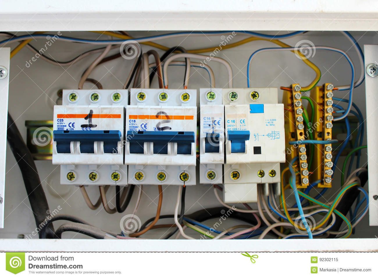 Elektrische Schalttafel Stock Photos - Royalty Free Images