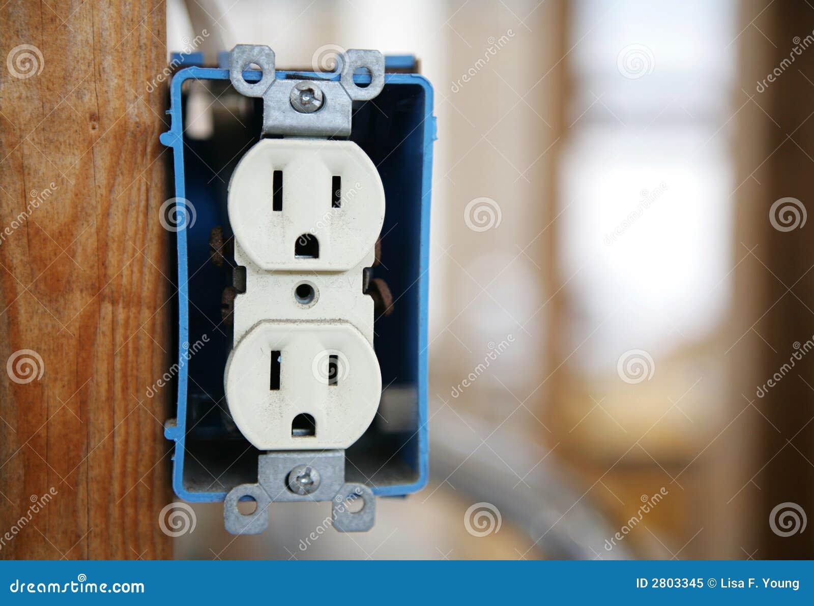 Elektrische Steckverbindung Stockbild - Bild von doppeltes ...