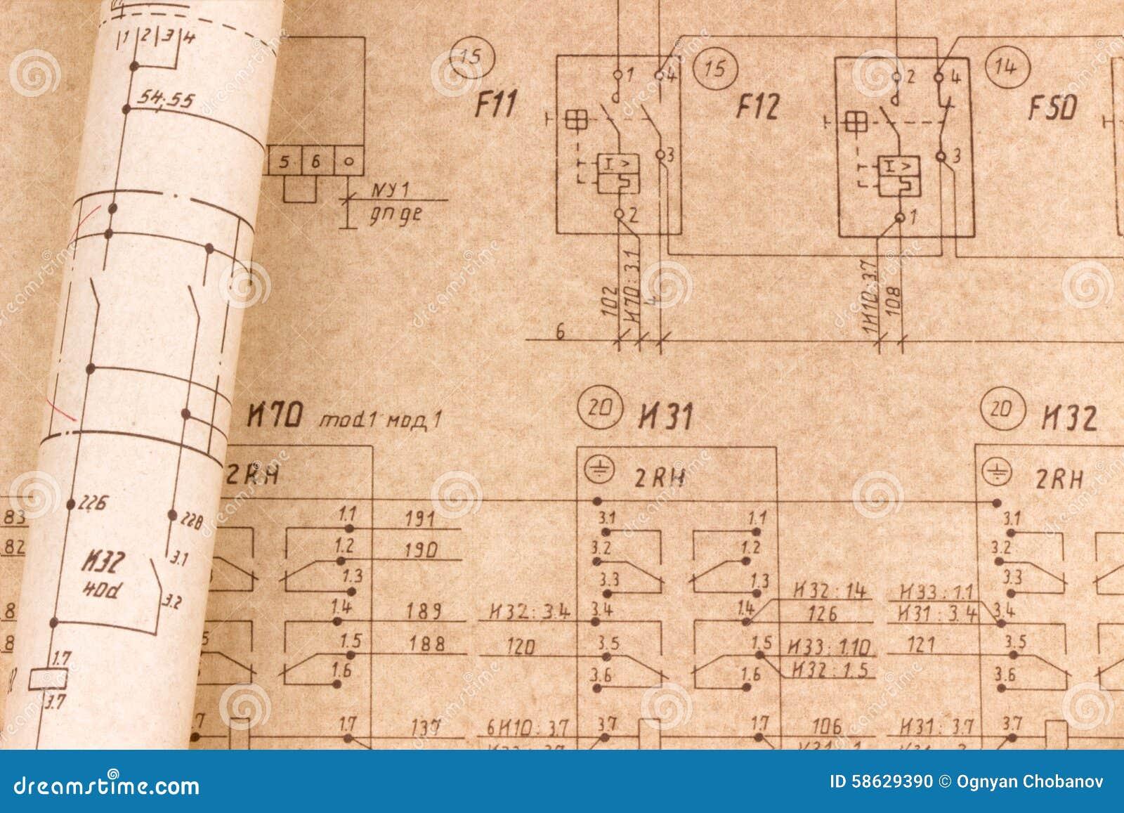 Groß Elektrische Strichzeichnung Galerie - Schaltplan Serie Circuit ...