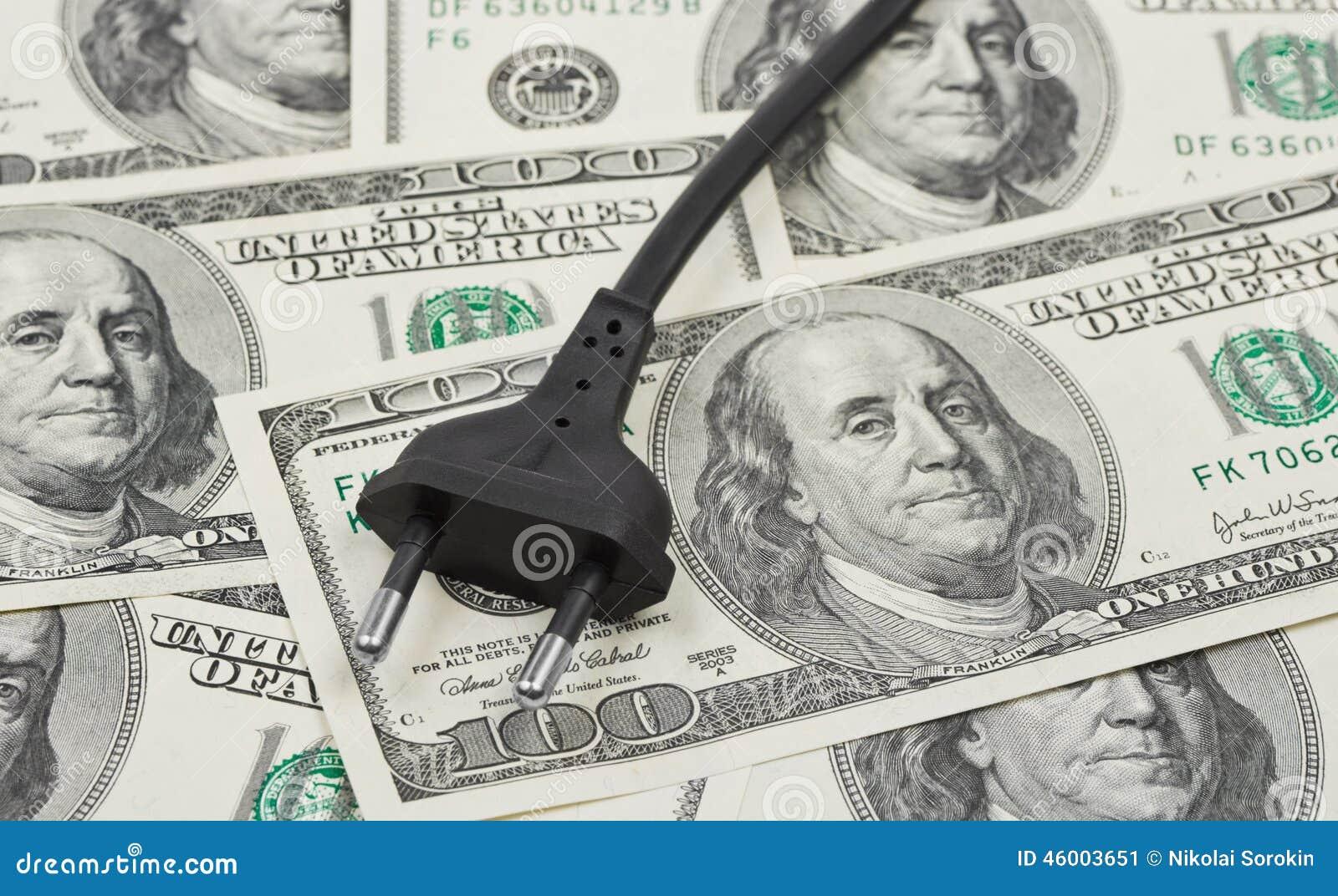 Elektrischer Bolzen Auf Geld Stockbild - Bild von finanzen, zeile ...