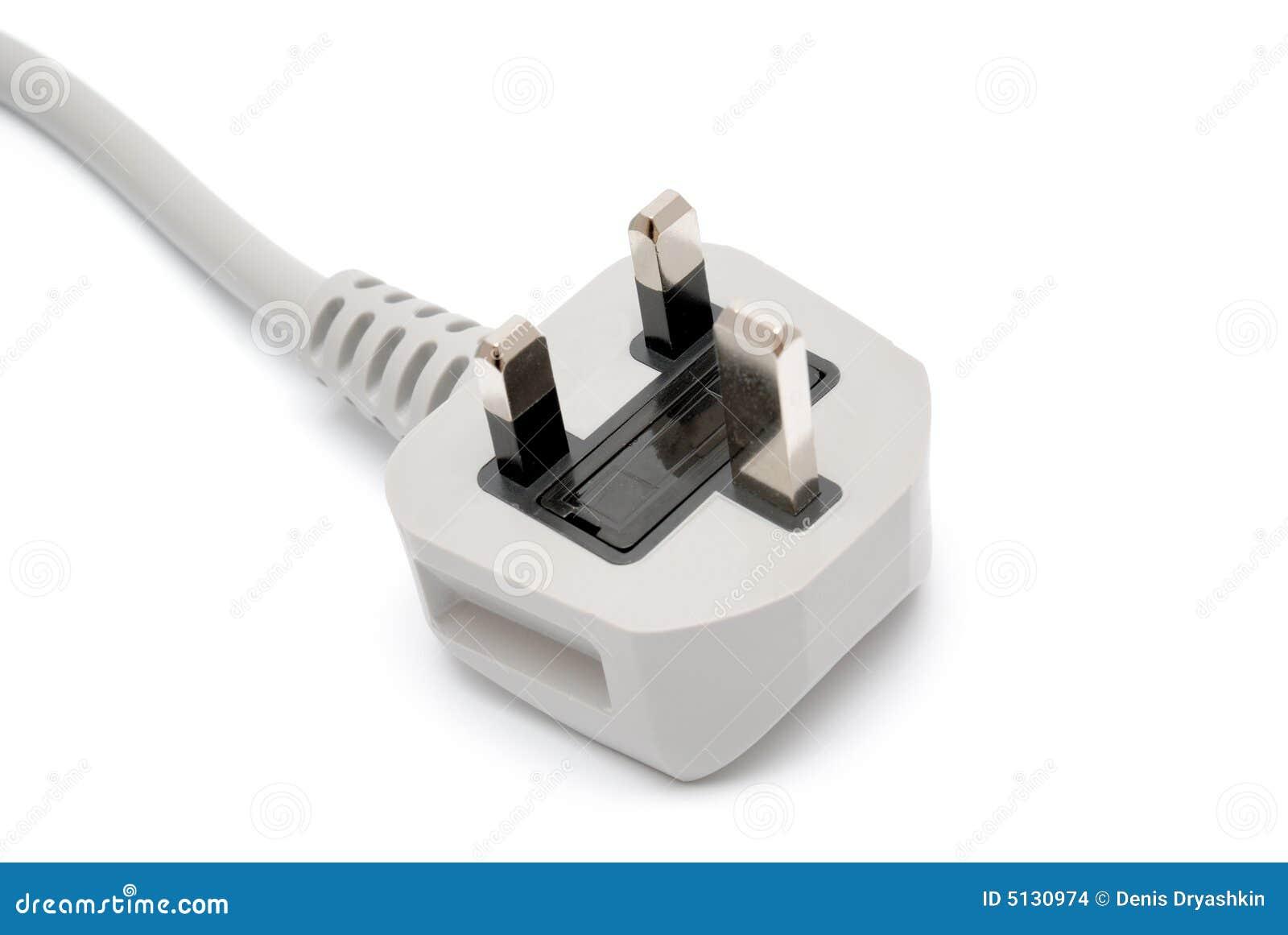 Elektrischer Bolzen getrennt auf Weiß