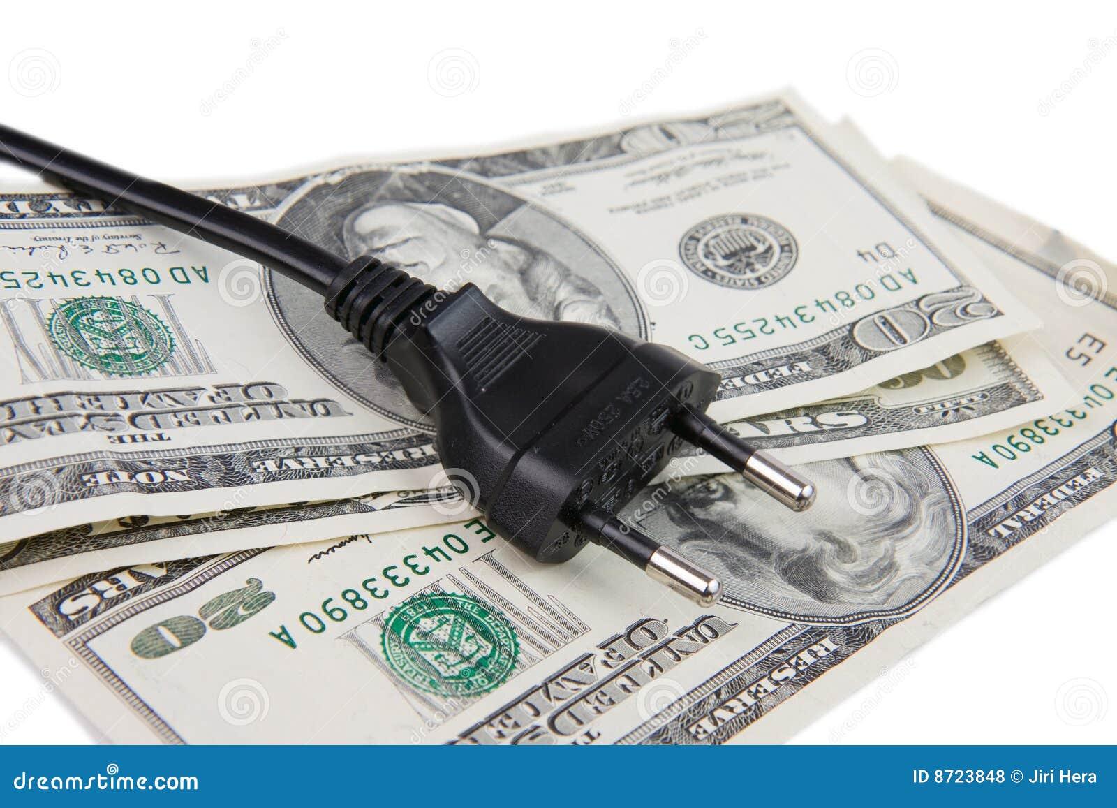 Elektrischer Bolzen Und Geld Stockfoto - Bild von geld, industrie ...