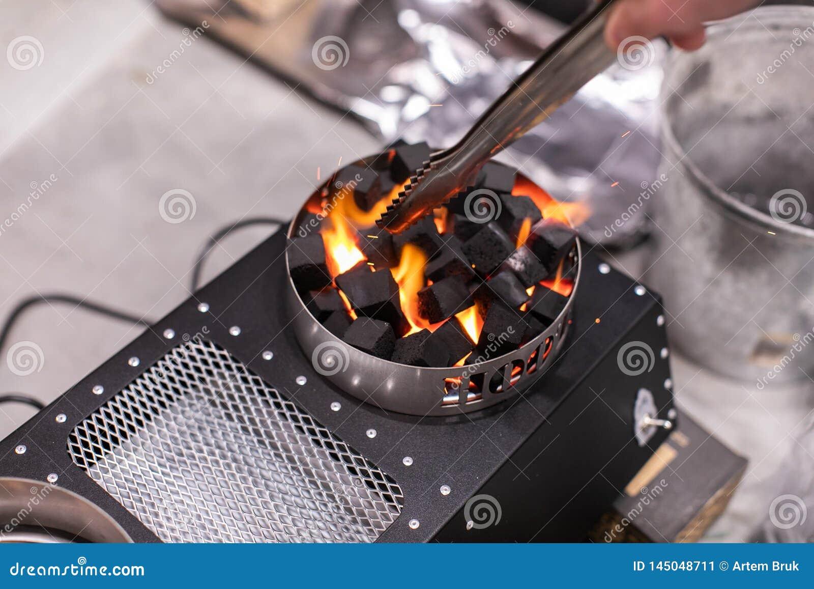Elektrischer Ofen für Zündung von Kohlen für Shisha Glühen