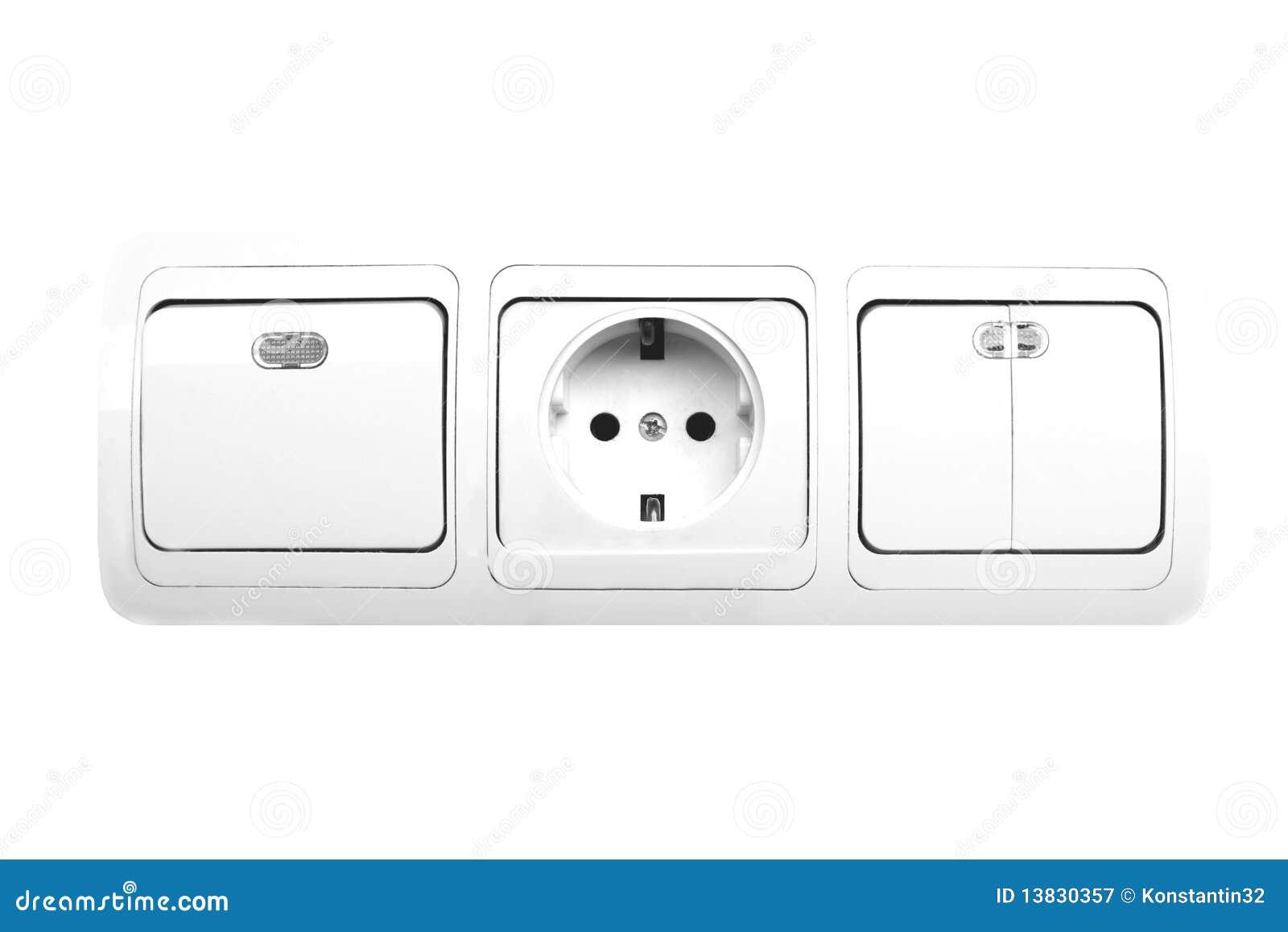 Elektrischer Schalter Und Bolzen Stockbild - Bild von rund ...