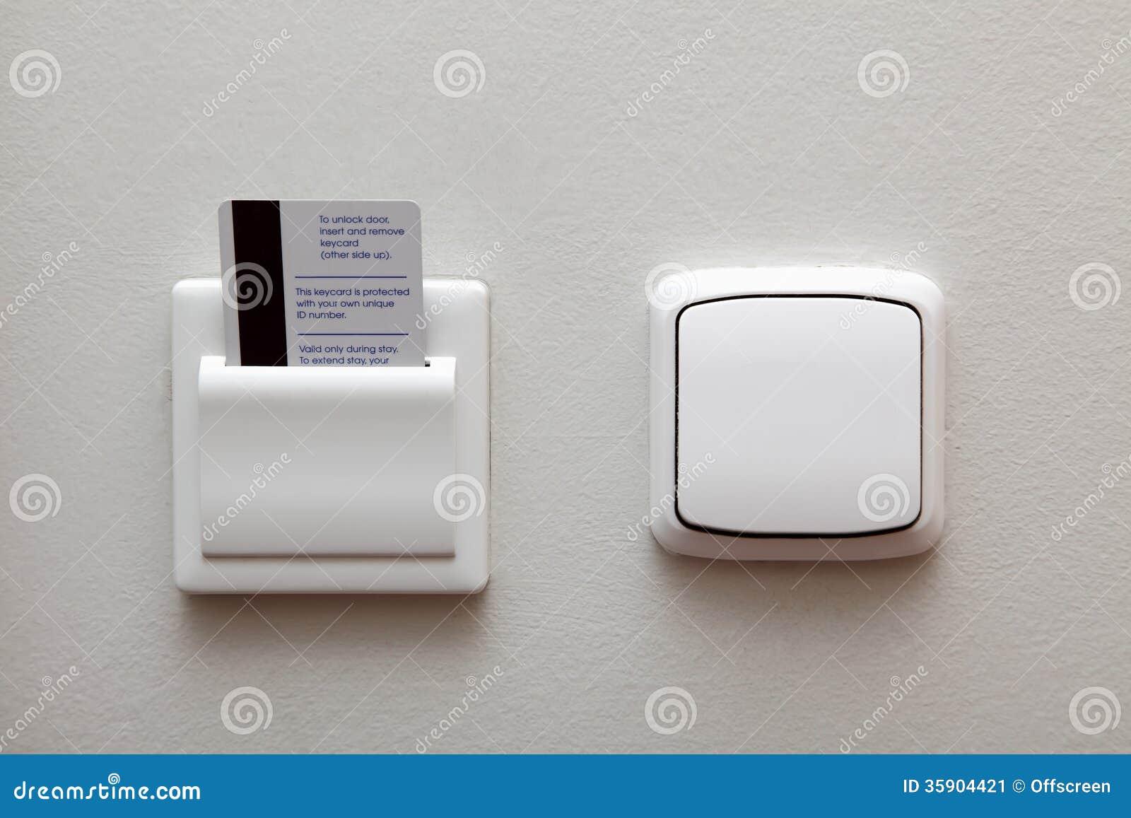 Elektrischer Schalter Und Schlüsselkarte Stockbild - Bild von ...