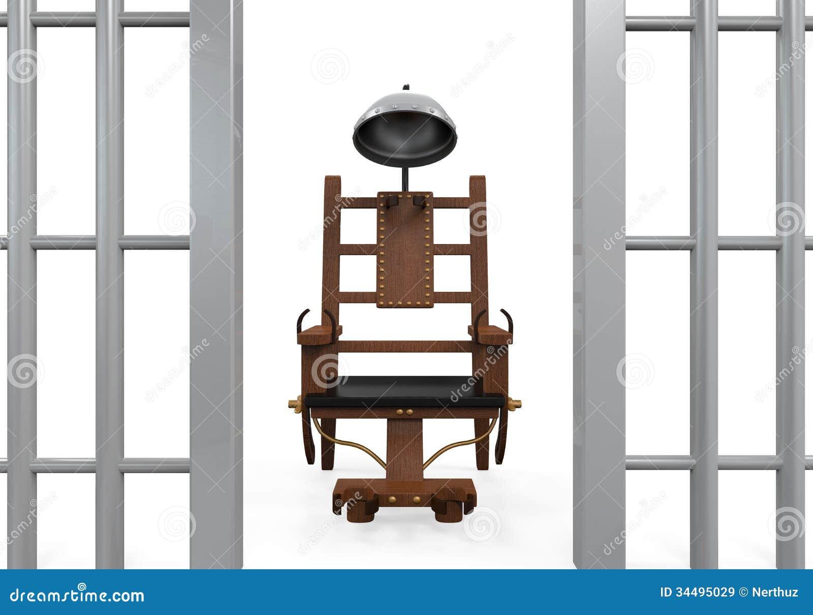 Elektrischer stuhl lokalisiert stock abbildung for Stuhl design dwg