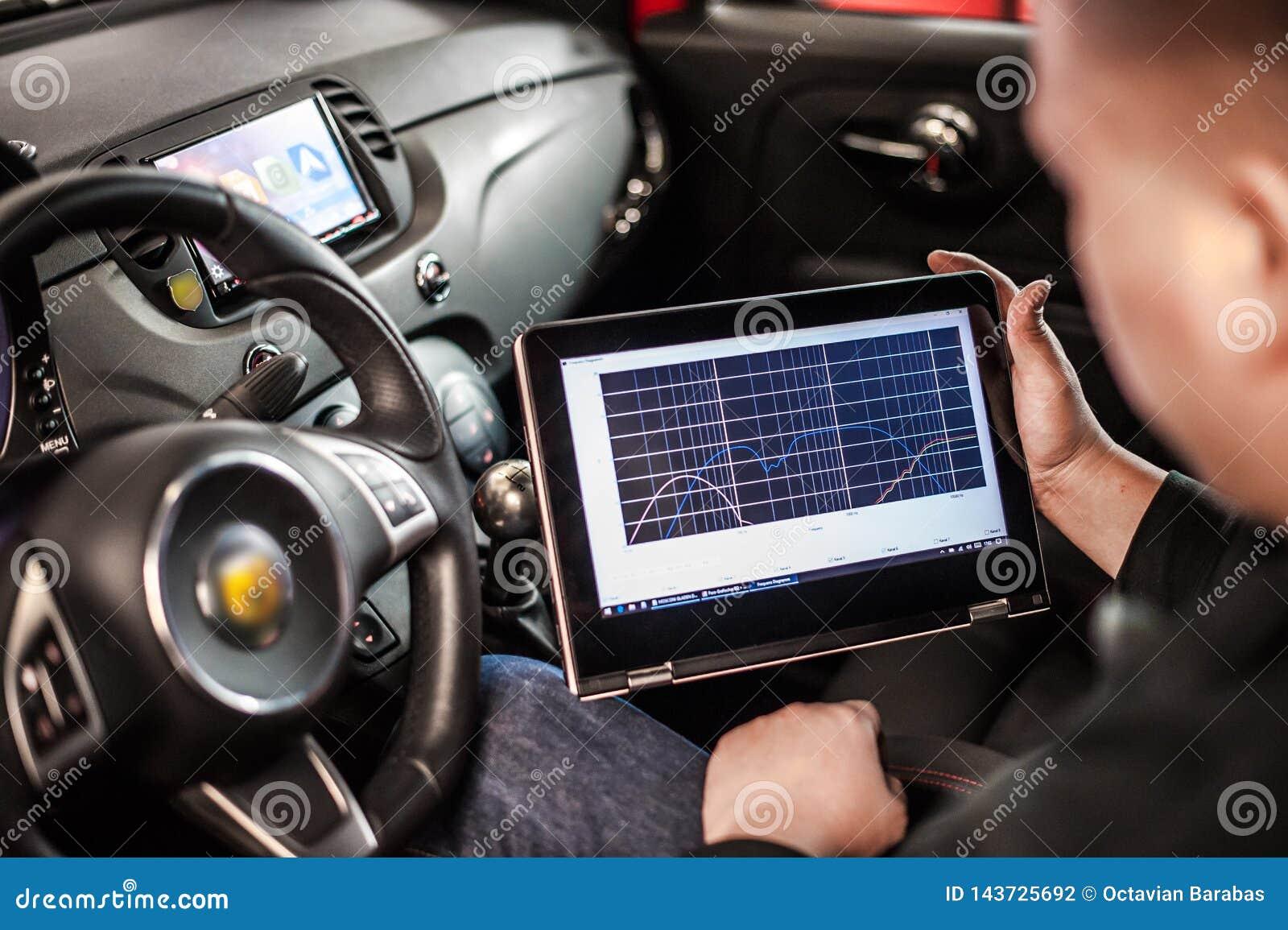 Elektrisches Diagnosengerät im modernen Auto