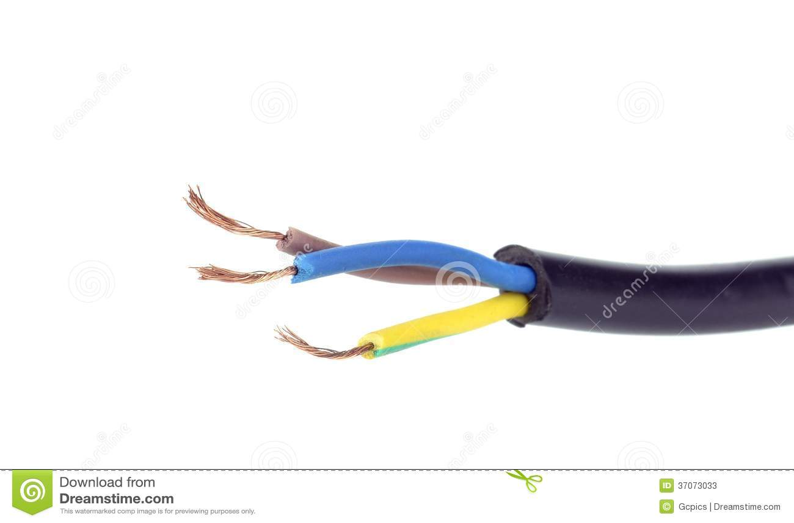 Exceptional Elektrisches Kabel Drähte Stockbild. Bild Von Getrennt   37073033