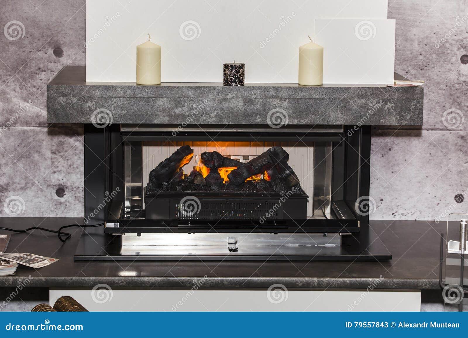 Elektrisches Kamin Foto Stockbild Bild Von Mobel Sonderkommando