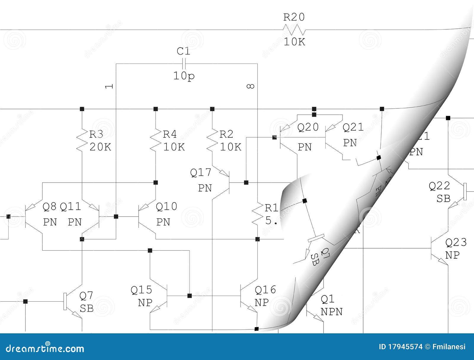 Elektrisches Schematisches Diagramm Der Rotation Stockfoto - Bild ...