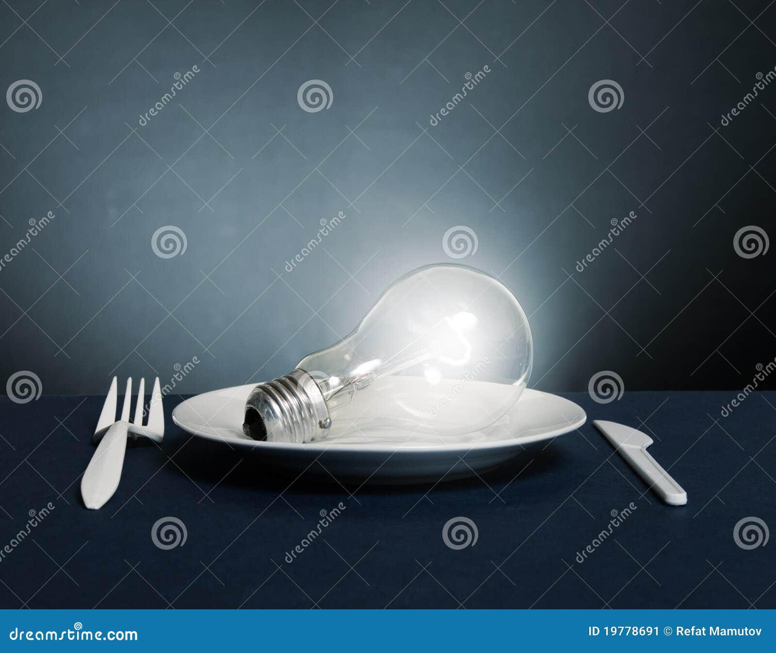 Elektrisk blossa lampa