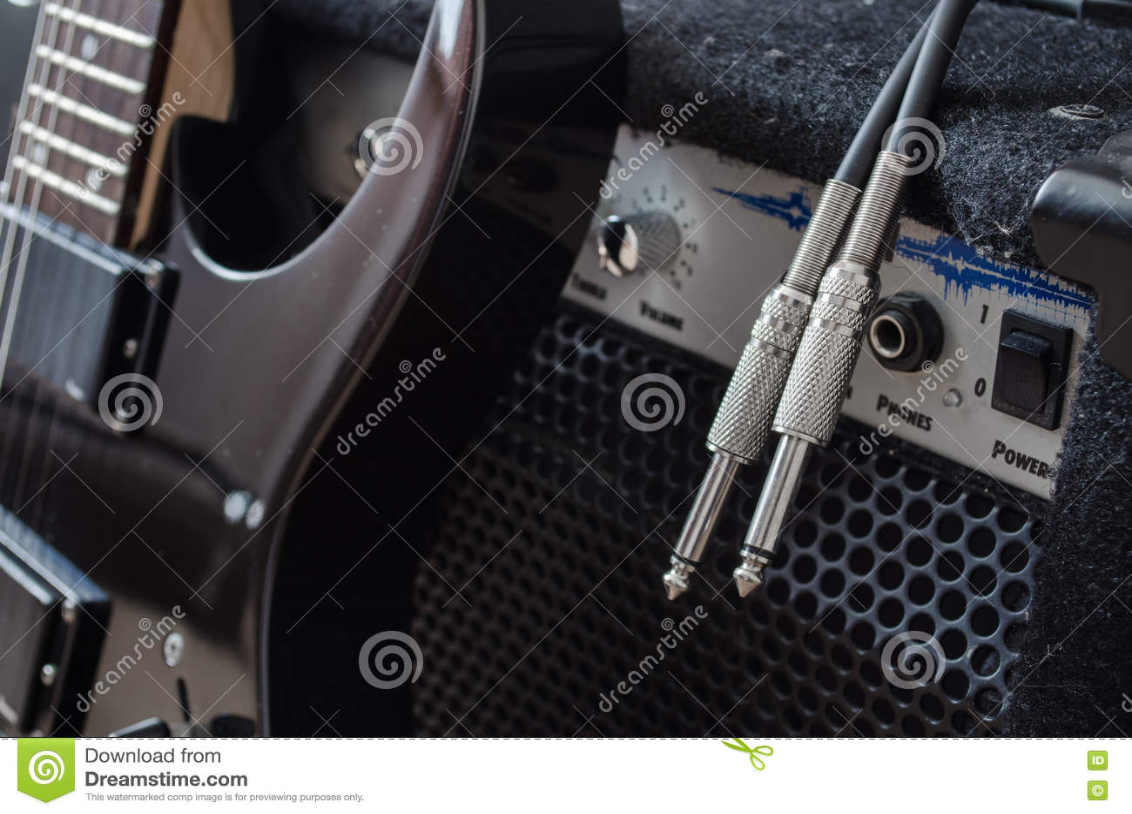 Elektrisk gitarr och combo ampere