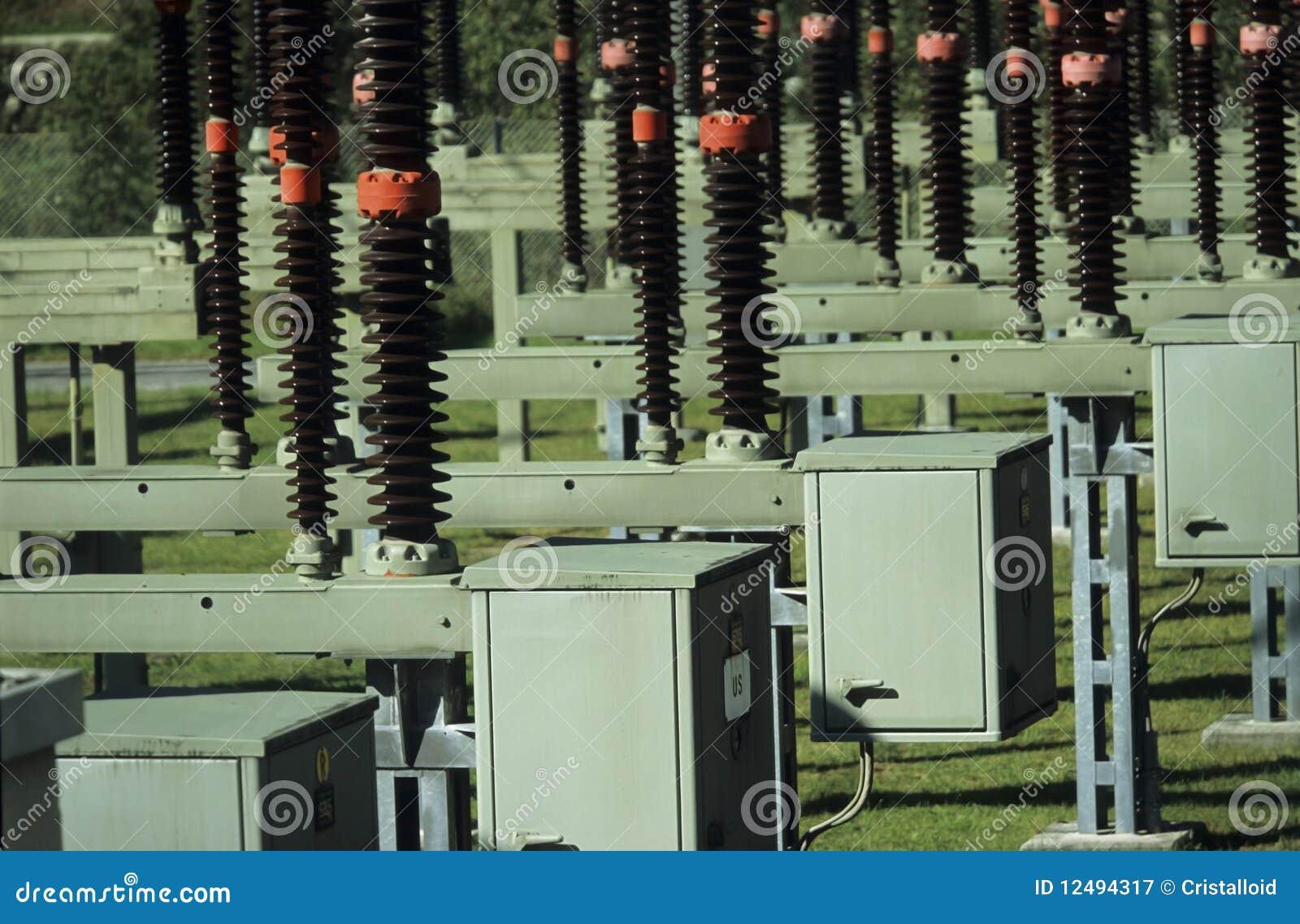 Elektrisk strömavdelningskontoromformning