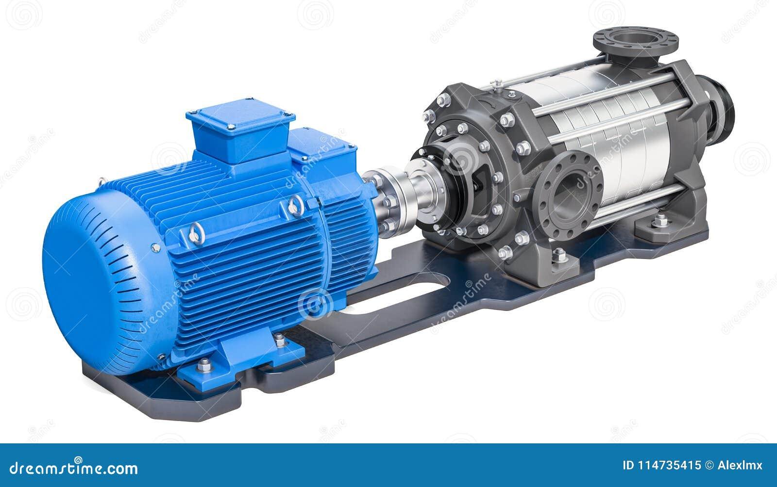 Elektrisk vattenpump, horisontalmultistage centrifugal pump 3d