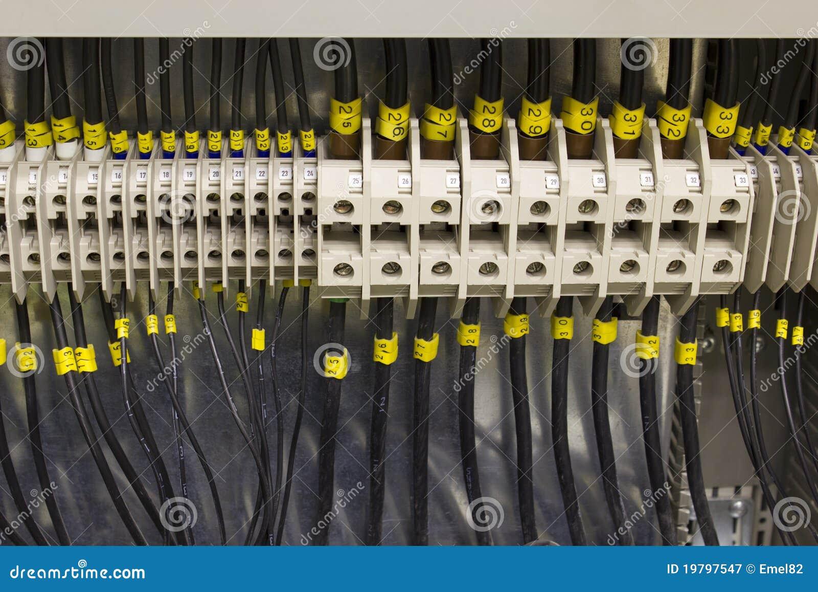 Elektrisk wiring för terminaler