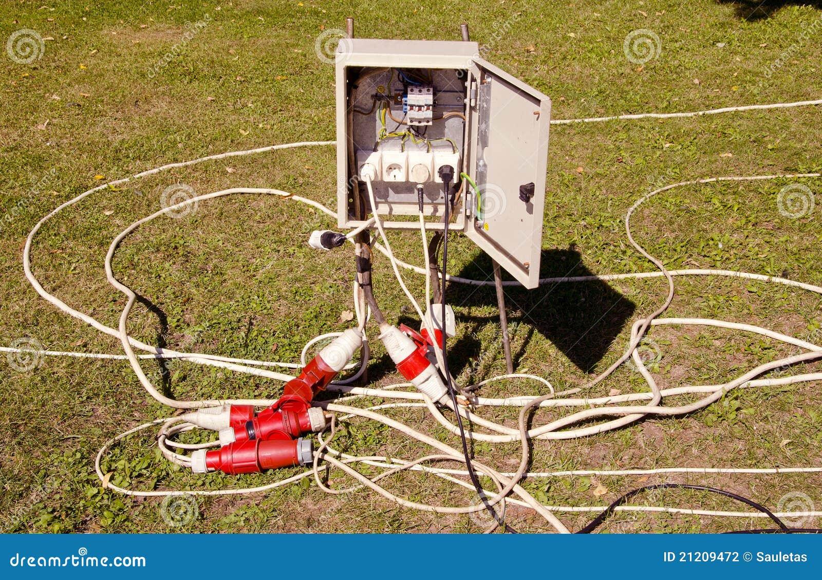 Elektriska trådar för utklipp
