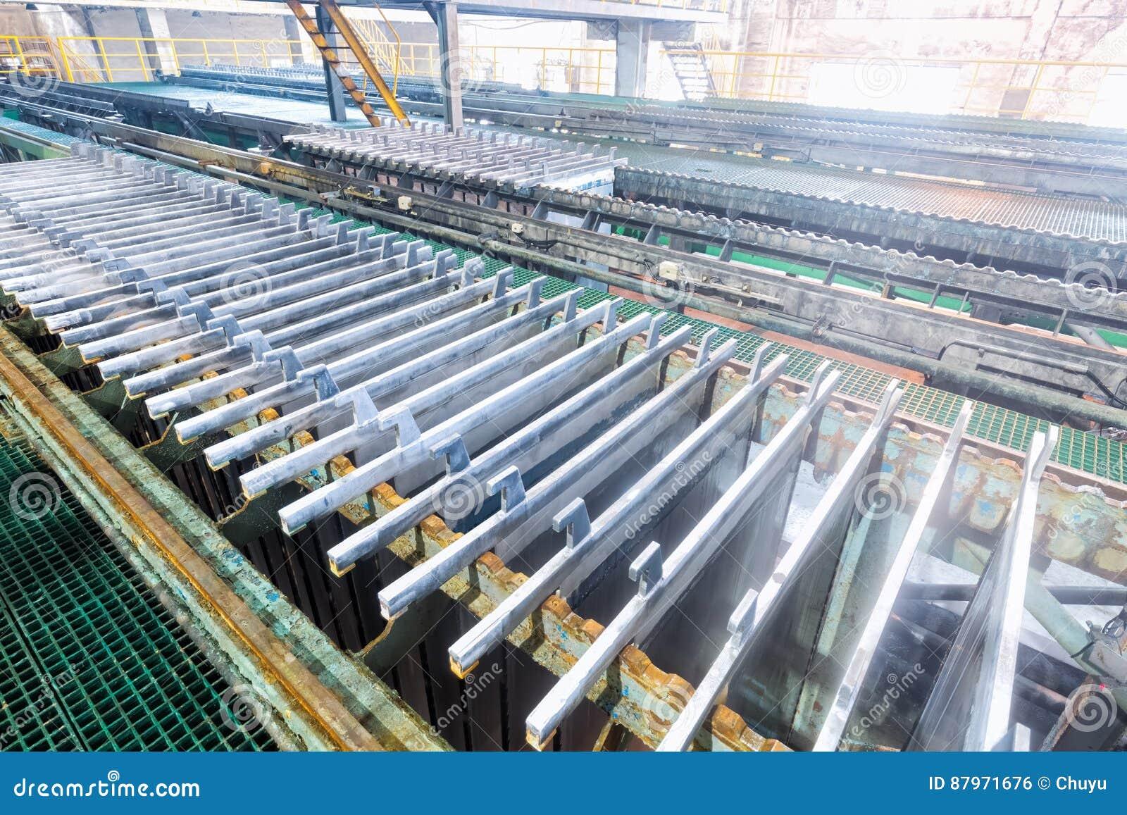 Elektrolytisk zinkproduktionslinje