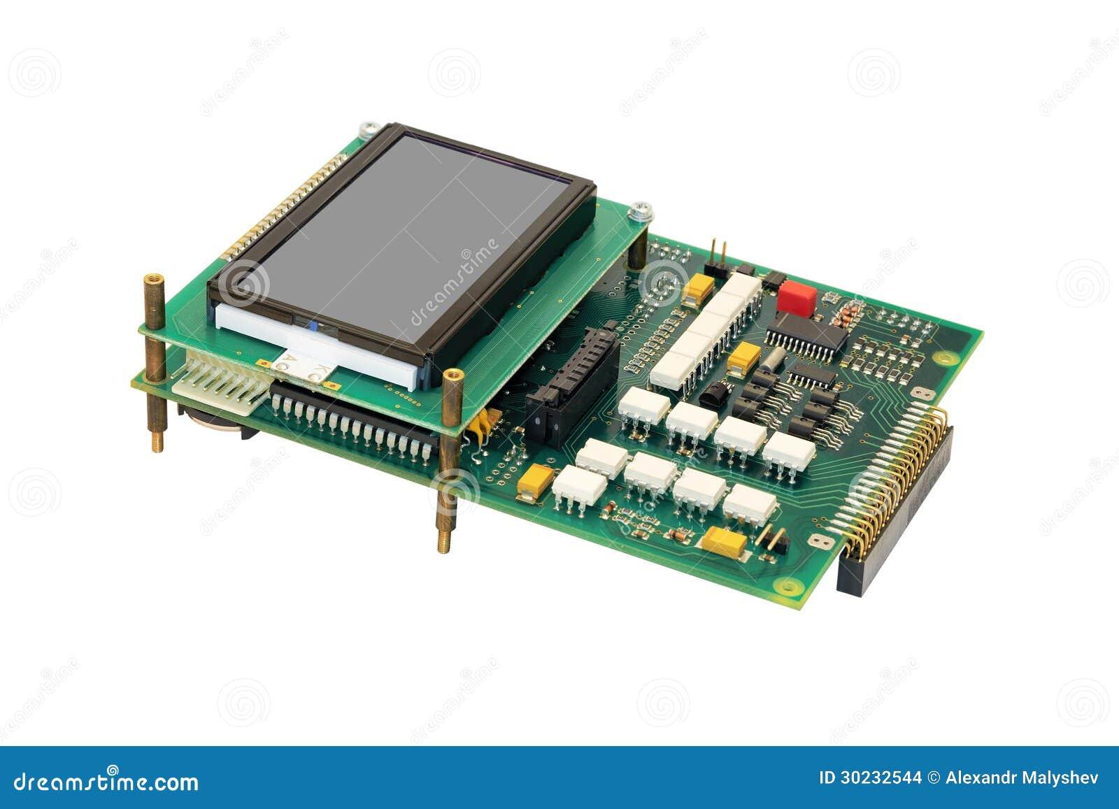 Elektronicznego obwodu deska z pokazem.
