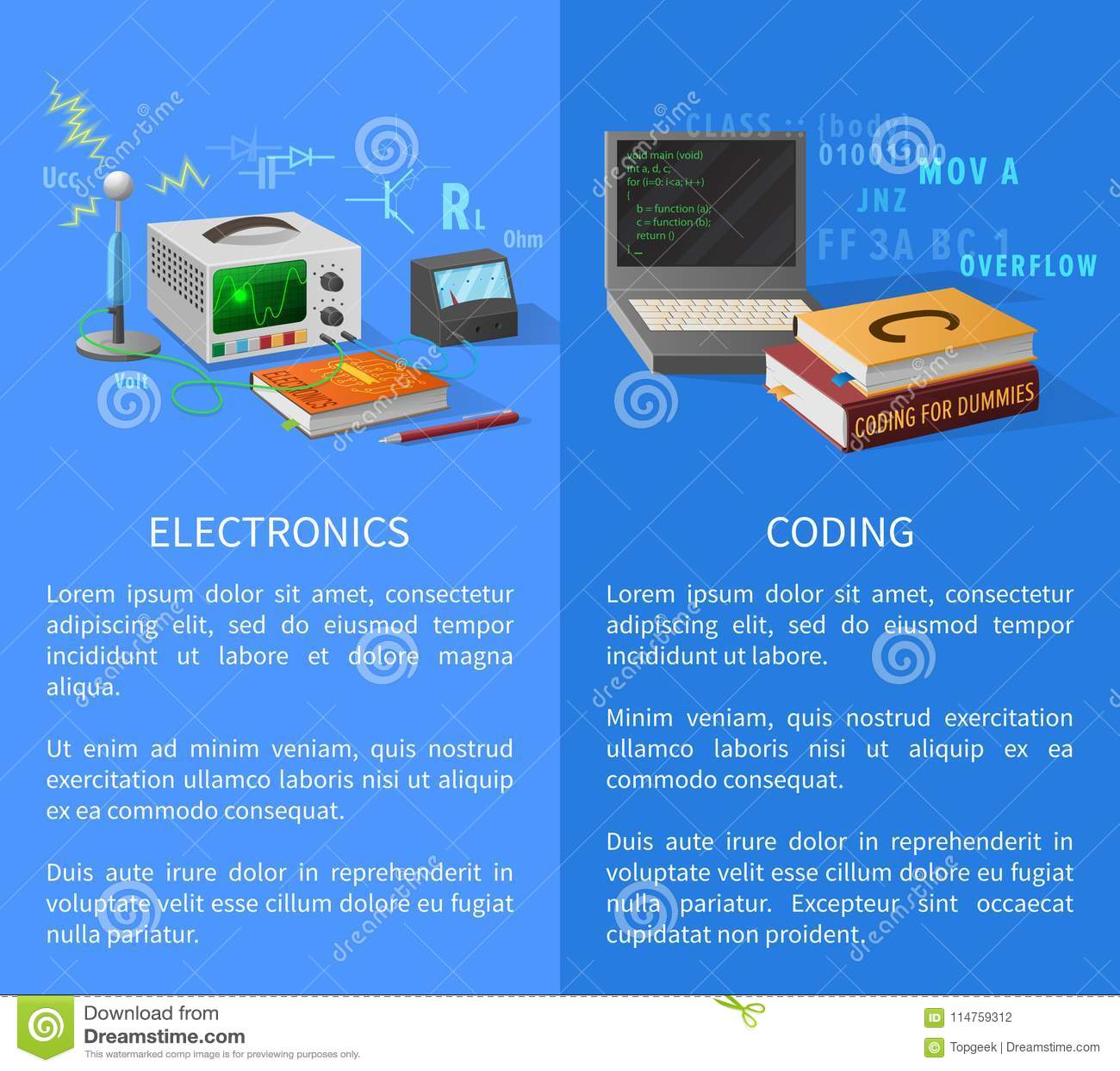 Elektronik och kodifierakurser befordrings- affisch
