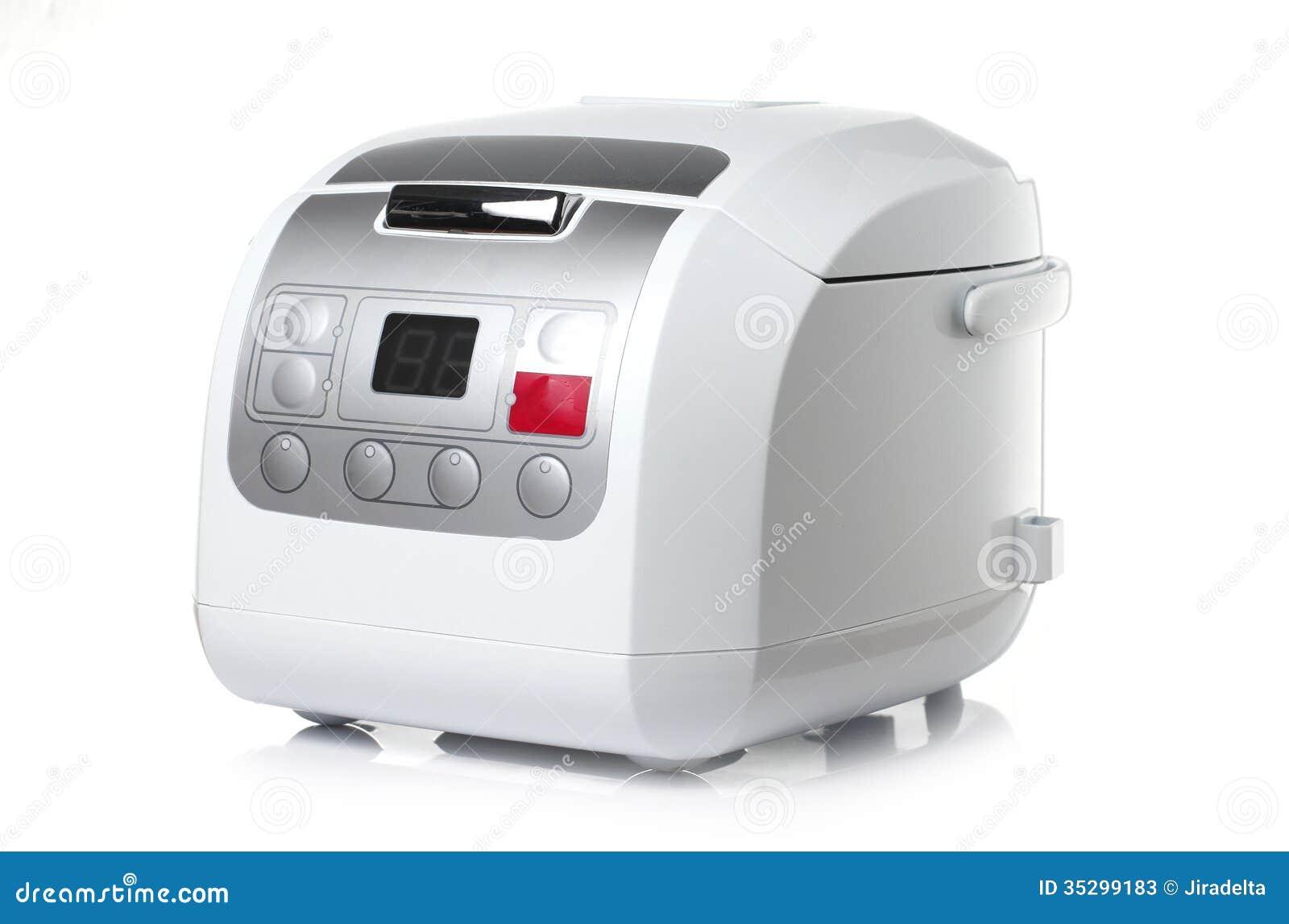 Elektronisch Rijstkooktoestel op Witte achtergrond