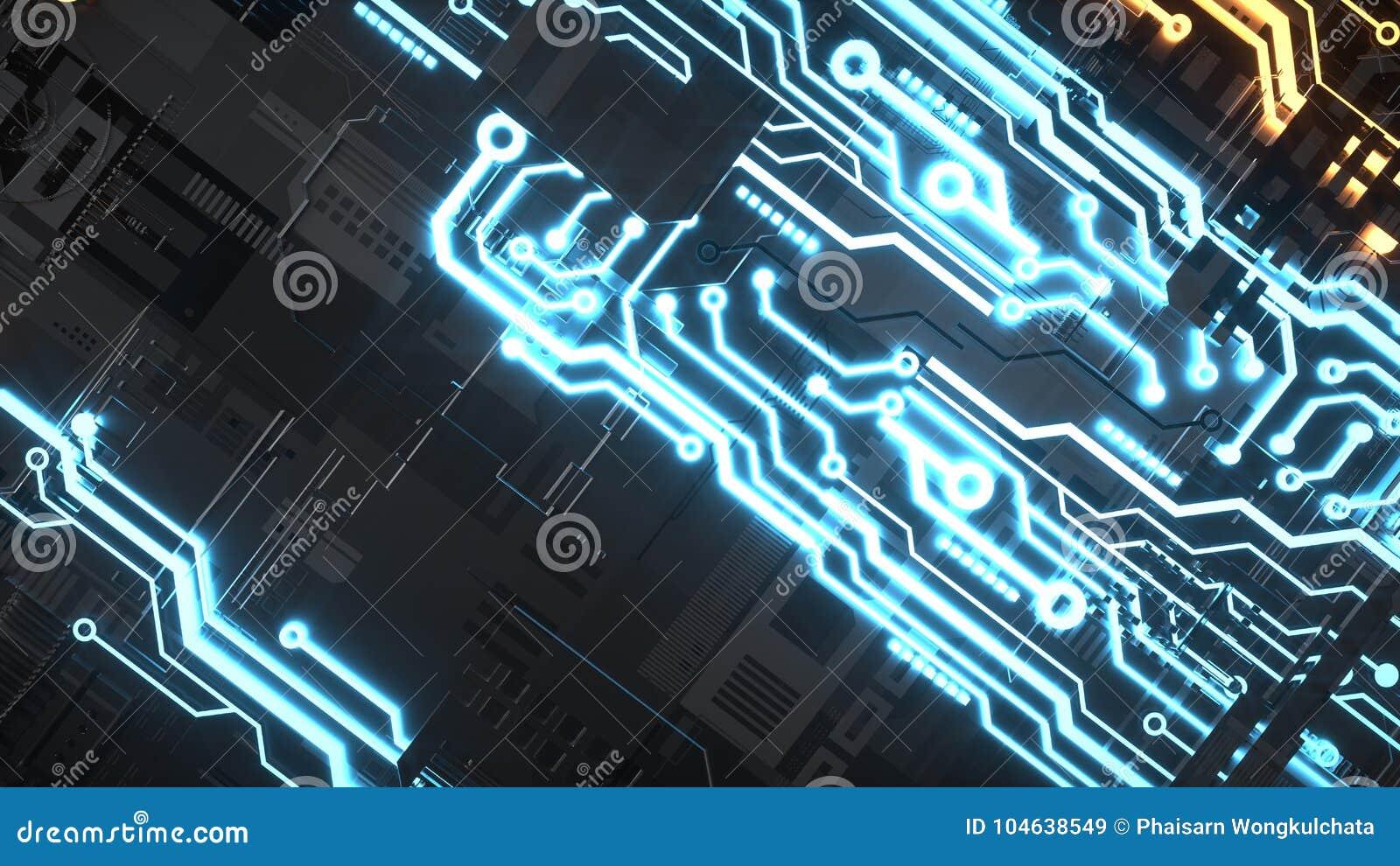 Download Elektronisch Schakelschema Met Goud Op Zwarte Achtergrond Stock Illustratie - Illustratie bestaande uit digitaal, abstractie: 104638549
