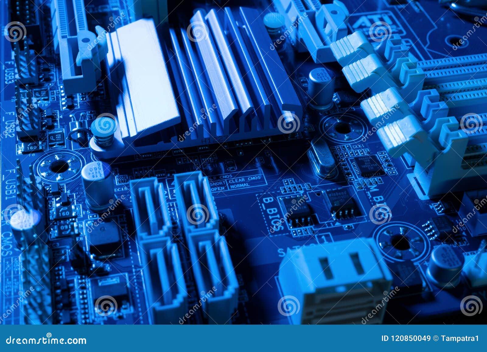 Elektronische kringen in futuristisch technologieconcept