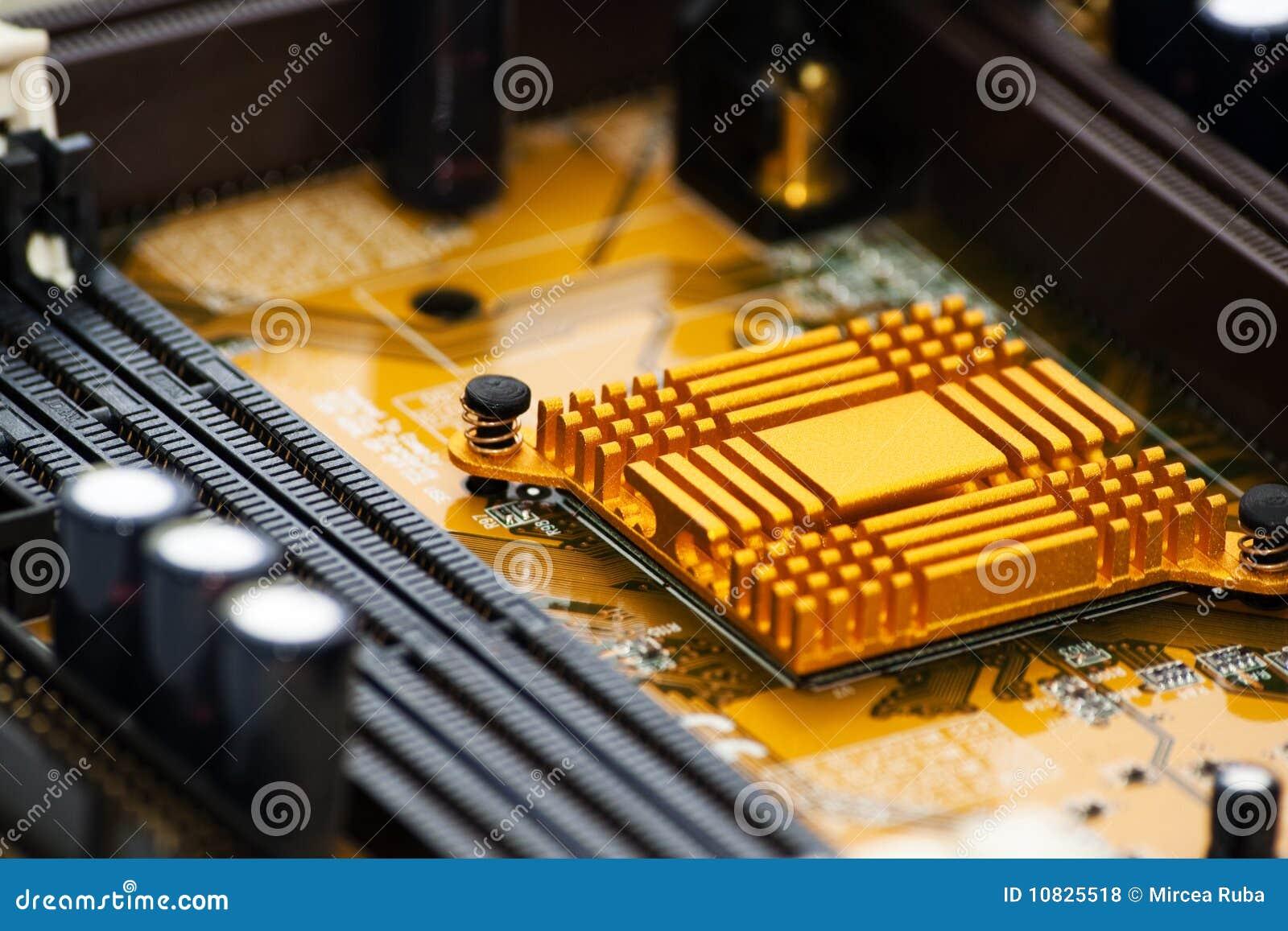 Elektronisches Vorstanddetail über ein Chip