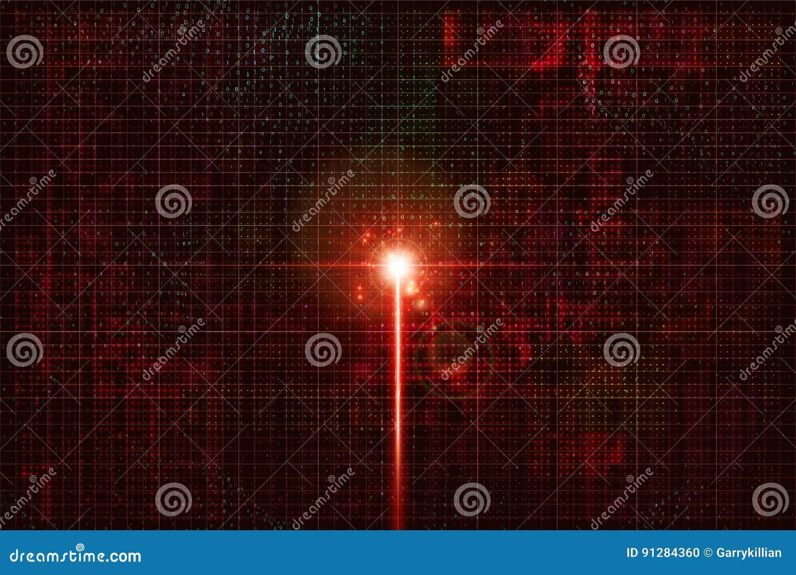 Elektronisk signal i cybervärlden Födelse av konstgjord intelligens
