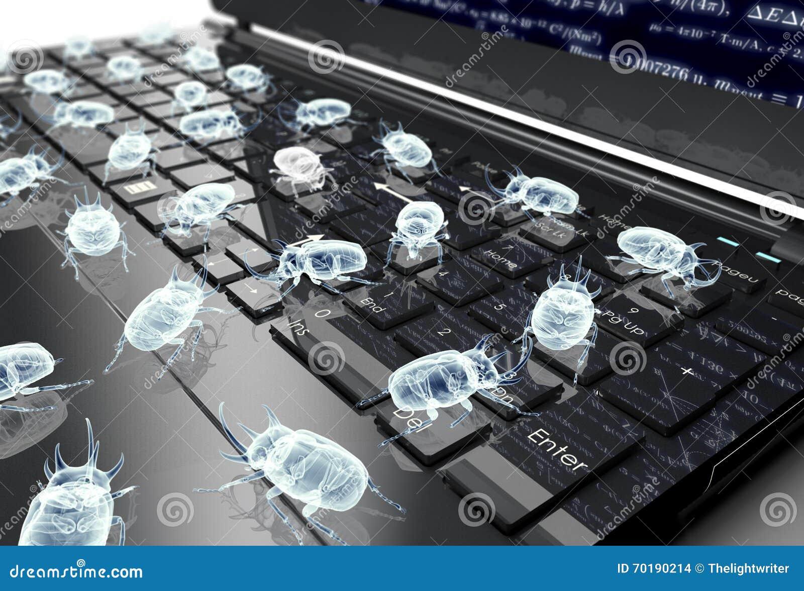 Elektroniskt fel för Digital säkerhetsbegrepp på datortangentbordet
