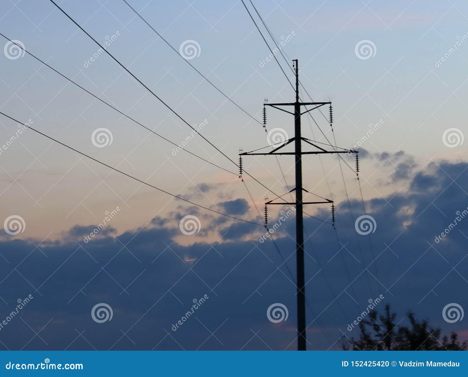Elektrosteun tegen de avond